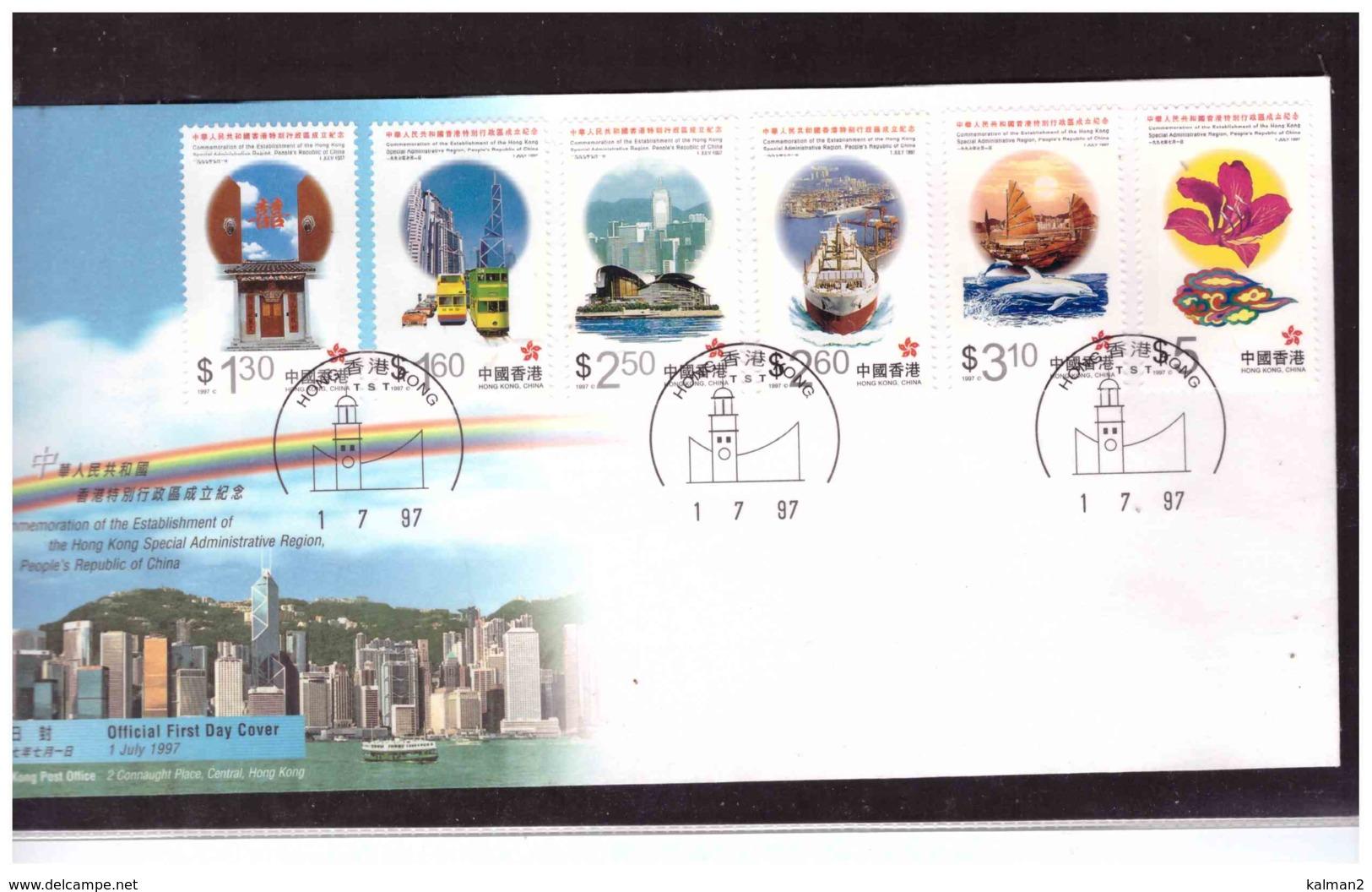 859   -   HONG KONG    /      FDC,   MICHEL NR.  820/825 - 1997-... Région Administrative Chinoise