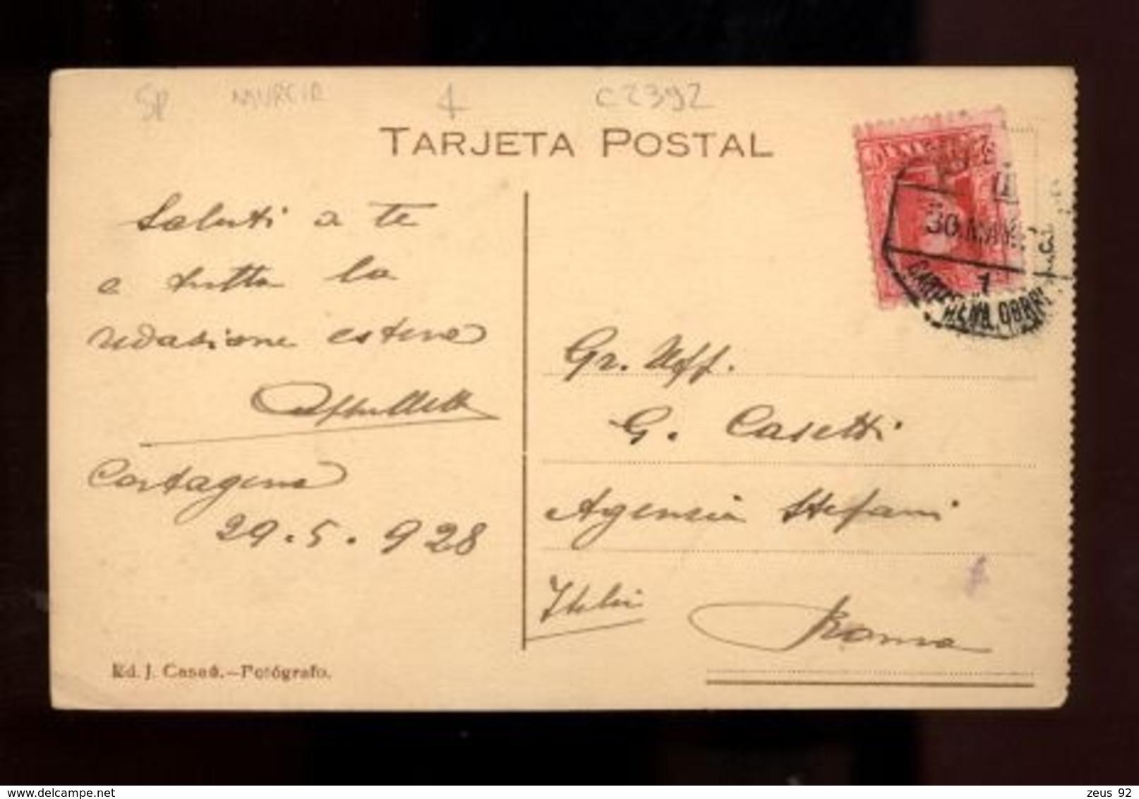 C2392 ESPAÑA - MURCIA - CARTAGENA - CUARTEL DEL REGIMENTO 70  1928 - ED. J. CASAU - Murcia