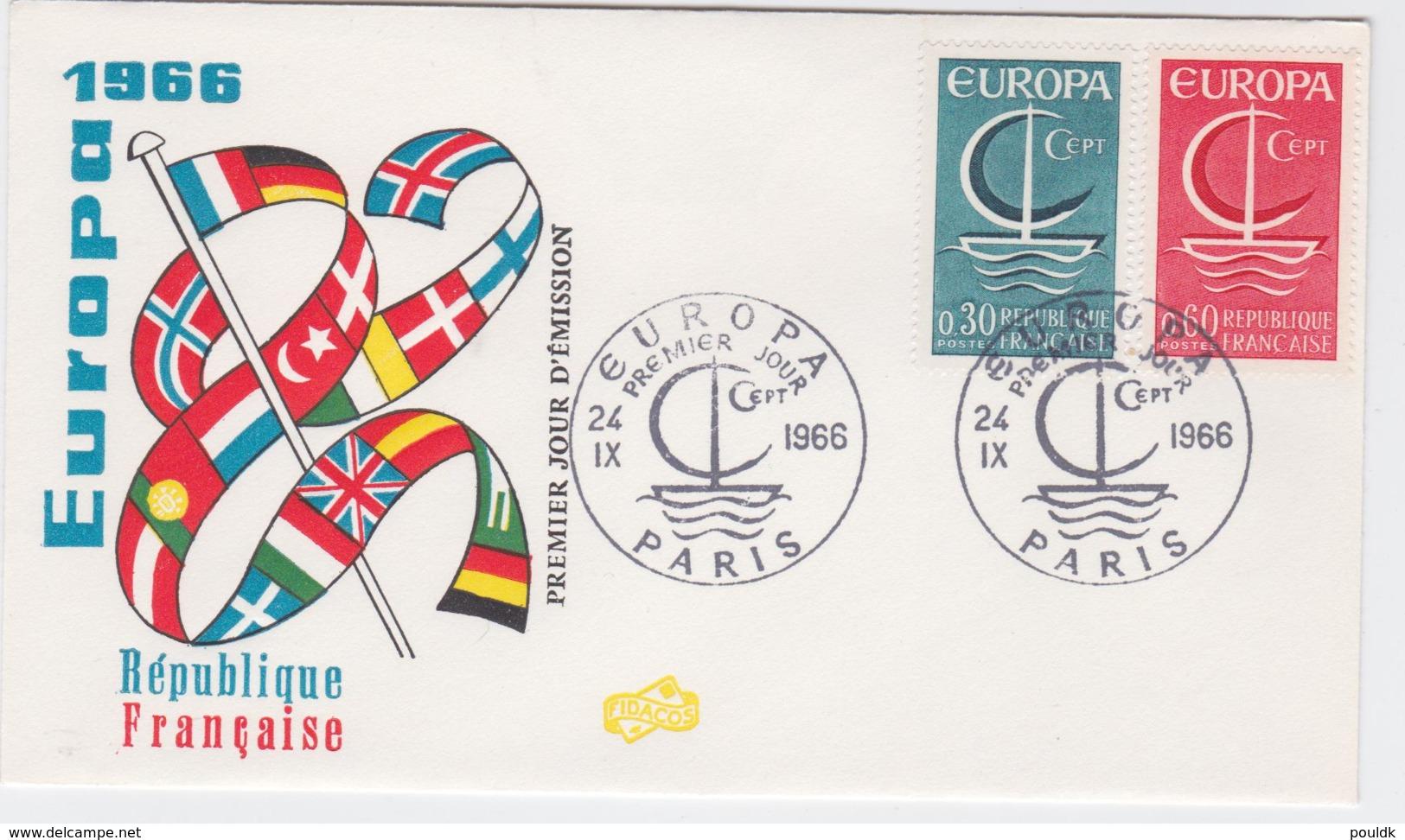 France FDC 1966 Europa CEPT (T3-39) - Europa-CEPT