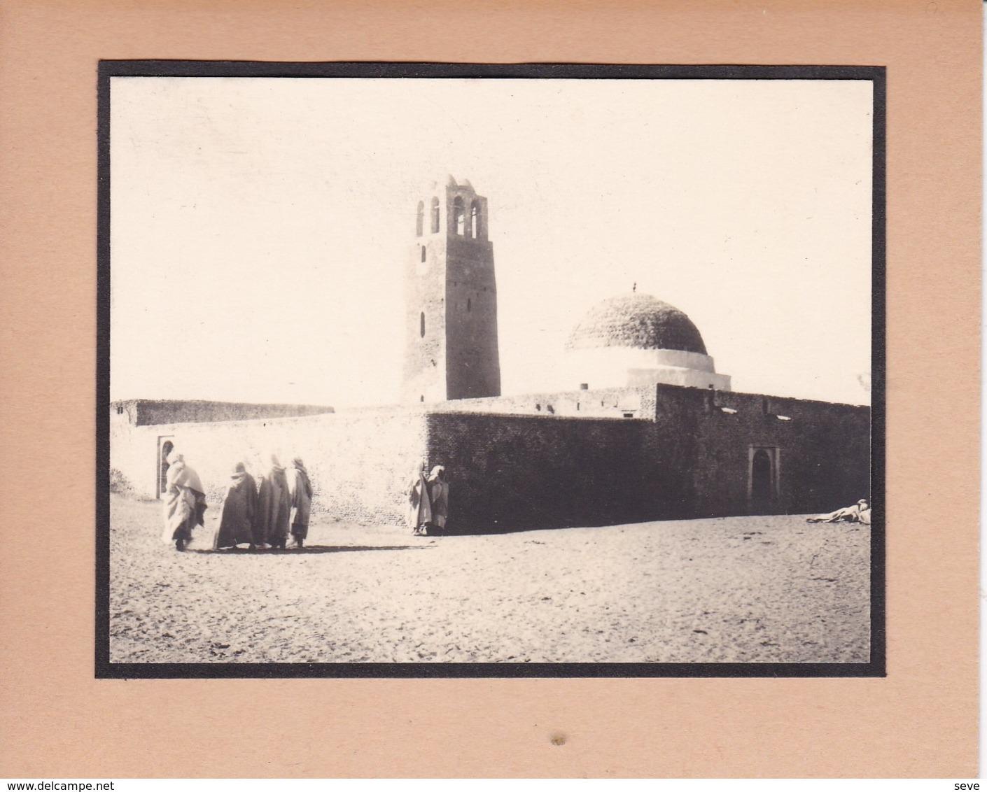 TOZEUR TUNISIE Ambiance De Rue Mosquée 1923. Photo Amateur Format Environ 5,5 Cm X 5 Cm - Lugares