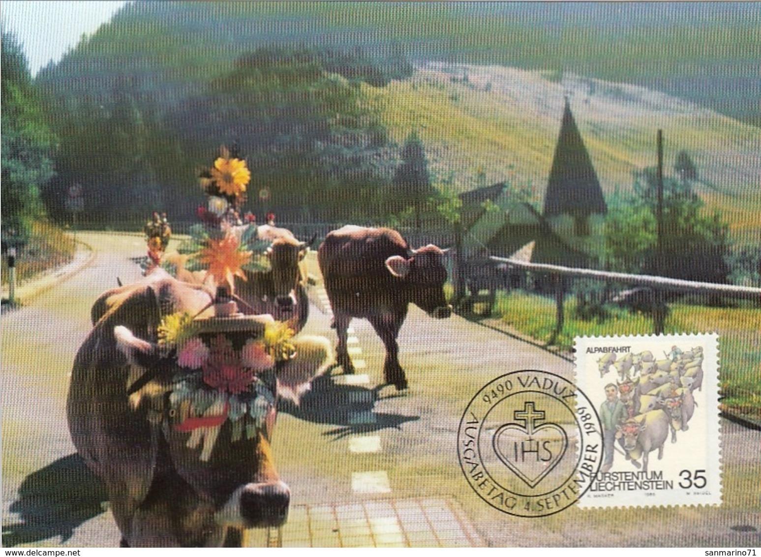 LIECHTENSTEIN Maximum Card 971 - Farm