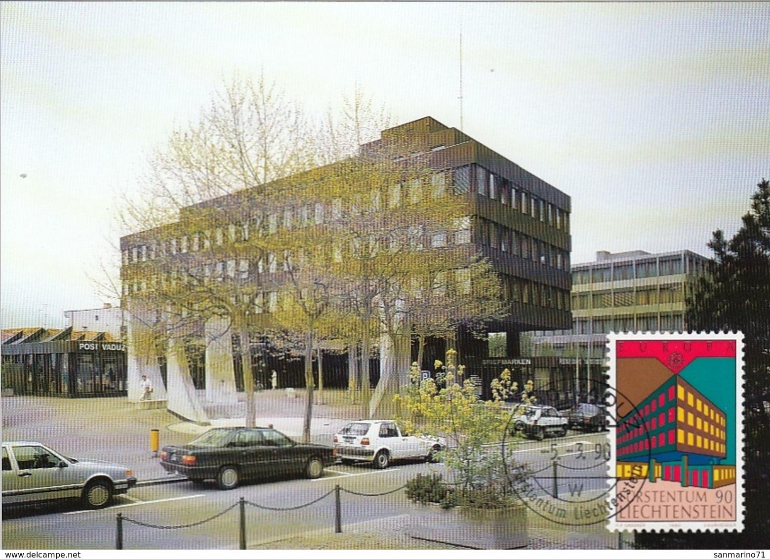 LIECHTENSTEIN Maximum Card 985 - 1990