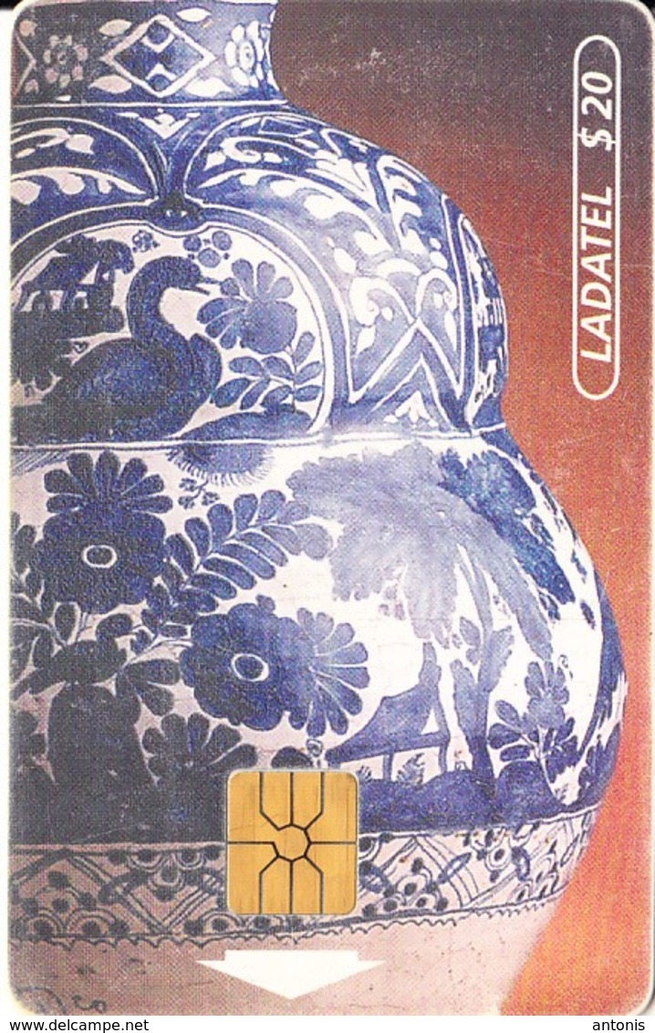 MEXICO - Talavera/Jarron(5/6)$20, Chip GEM, 01/96, Used - México