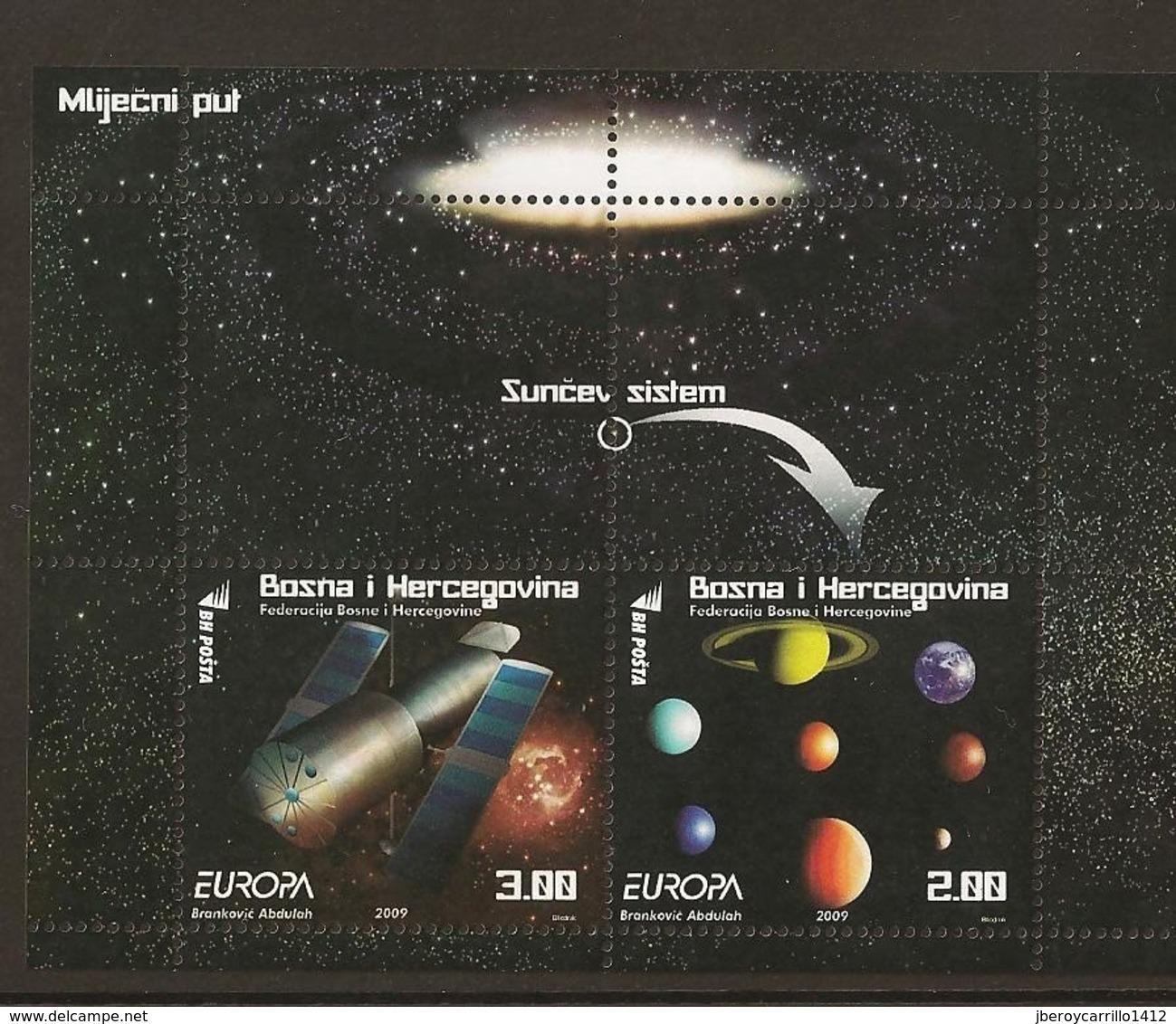 "BOSNIA I HERZEGOVINA /BOSNIA SARAJEVO - EUROPA 2009 - TEMA ""ASTRONOMIA"" -  SOUVENIR SHEET - Europa-CEPT"