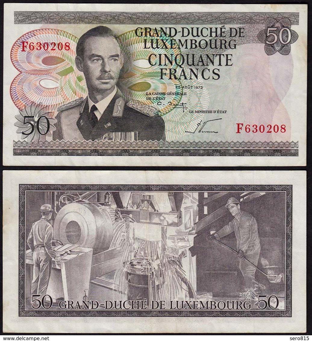 Luxemburg - Luxembourg 50 Francs Banknote 1972 Pick 55b VF (3)  (14945 - Luxemburgo