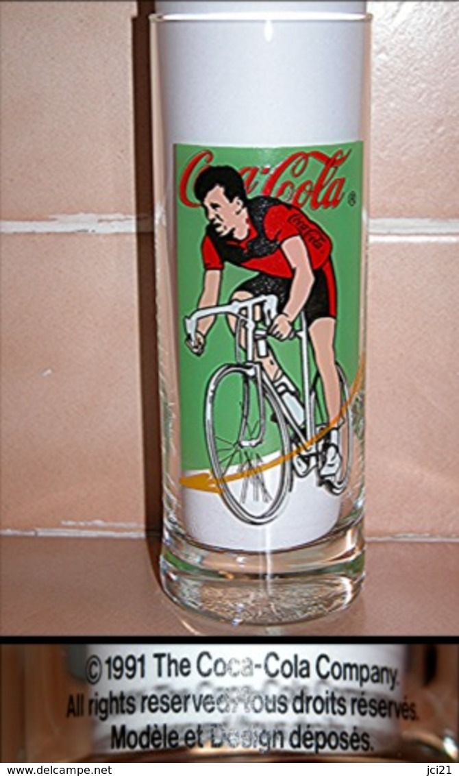 Verre COCA-COLA -  Coureur Cycliste Vélo Bicyclette Course - Daté De 1991_D345 - Glasses