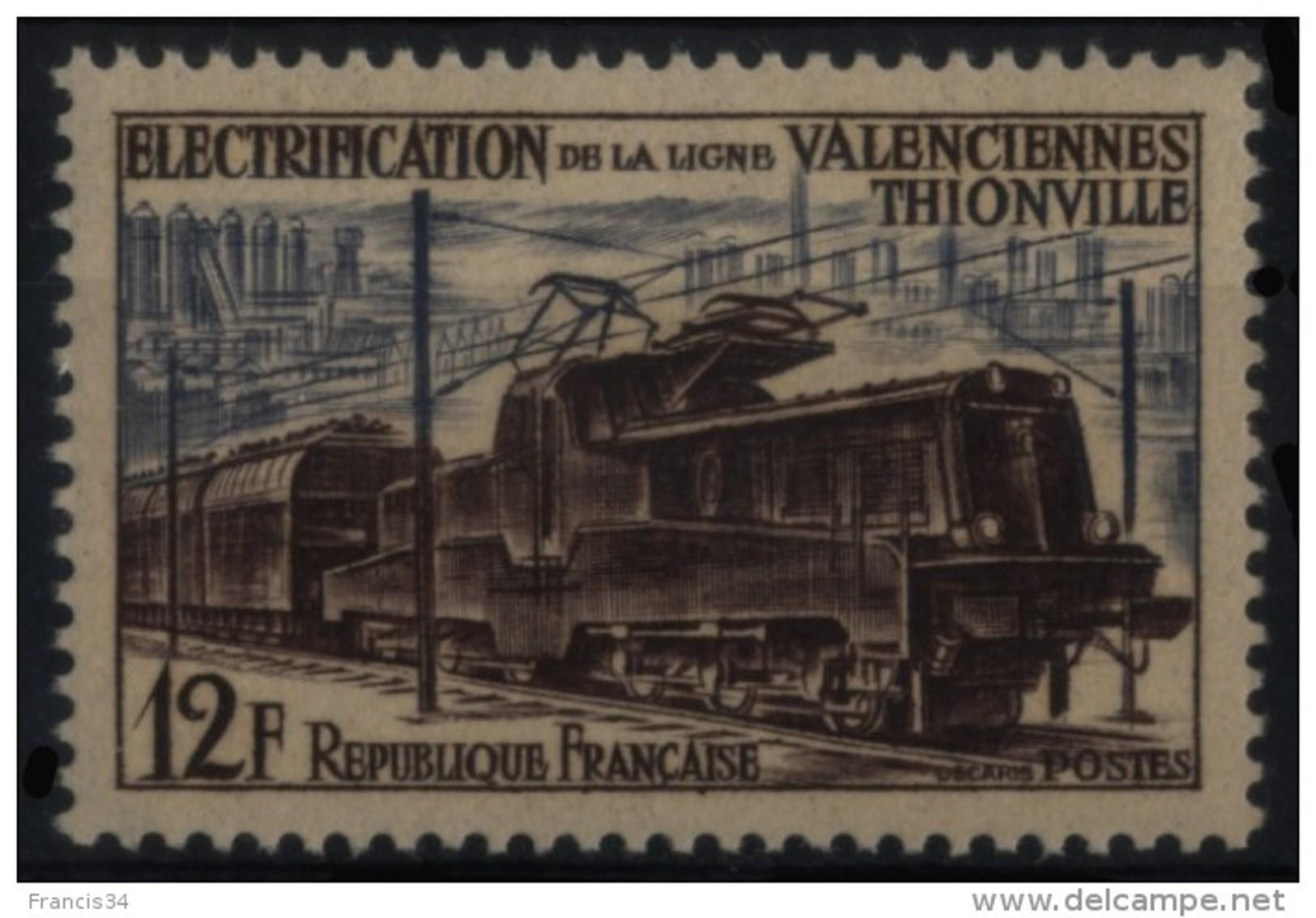 N° 1024 - X X - ( F 363 ) - ( Electrification De La Ligne Valenciennes Thionville ) - Ungebraucht