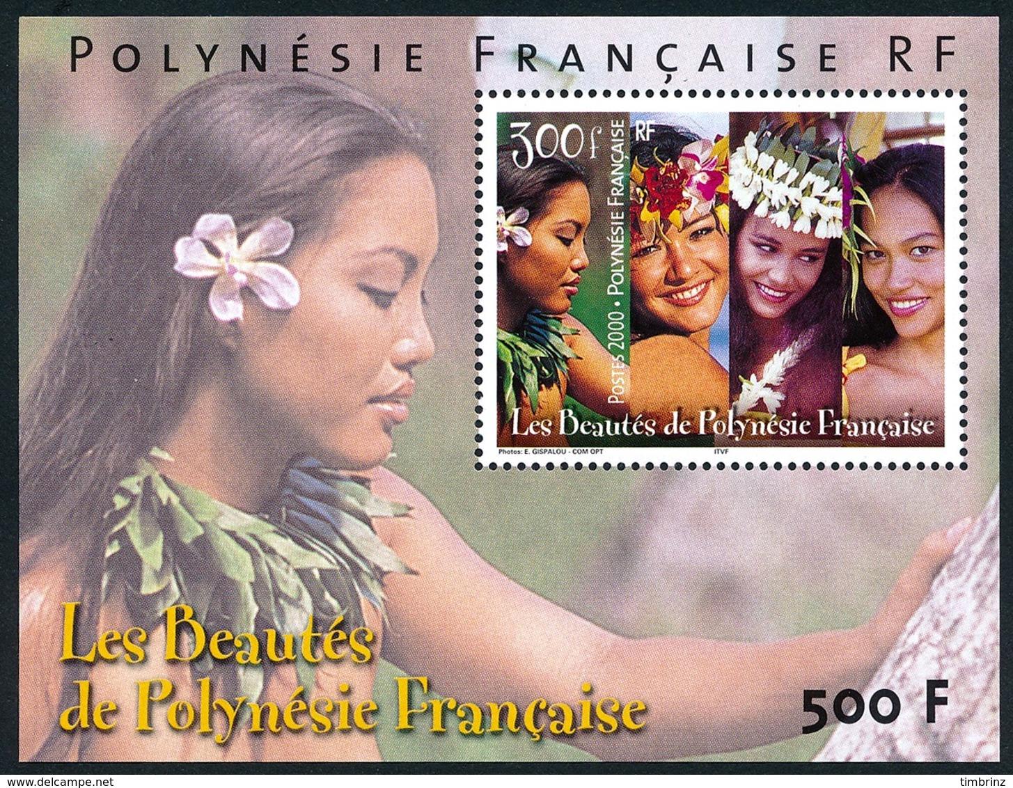 POLYNESIE 2000 - Yv. BF 25 (618) ** TB  Cote= 13,50 EUR - Vahinés, Beautés De La Polynésie  ..Réf.POL24269 - Blocks & Kleinbögen