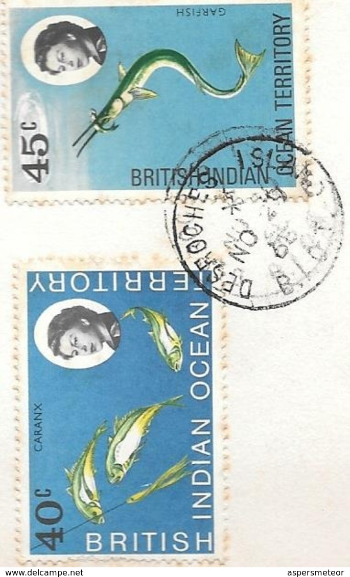 SEYCHELLES ALDABRA RECONNAISSANCCE EXPEDITION NOVEMBRE 1968 LINDBLAD TRAVEL INC NEW YORK WITH BIG ENVELOPE - British Indian Ocean Territory (BIOT)