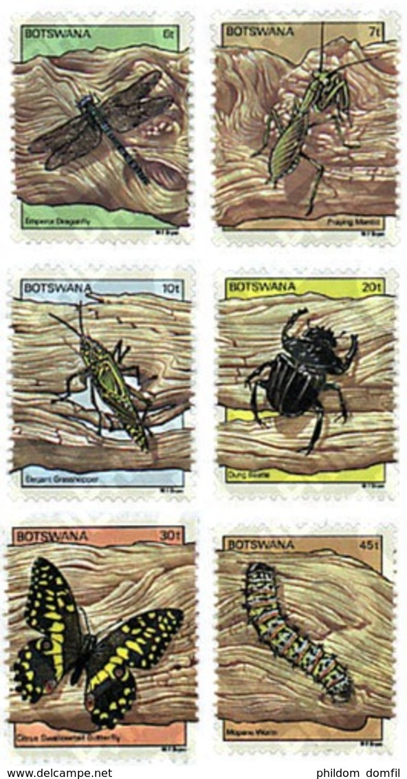 Ref. 77529 * MNH * - BOTSWANA. 1981. INSECTS . INSECTOS - Botswana (1966-...)