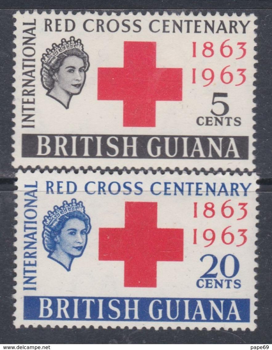 Guyana N° 204 / 05 XX Centenaire De La Croix-Rouge Internationale, Les 2 Valeurs Sans Charnière, TB - British Guiana (...-1966)