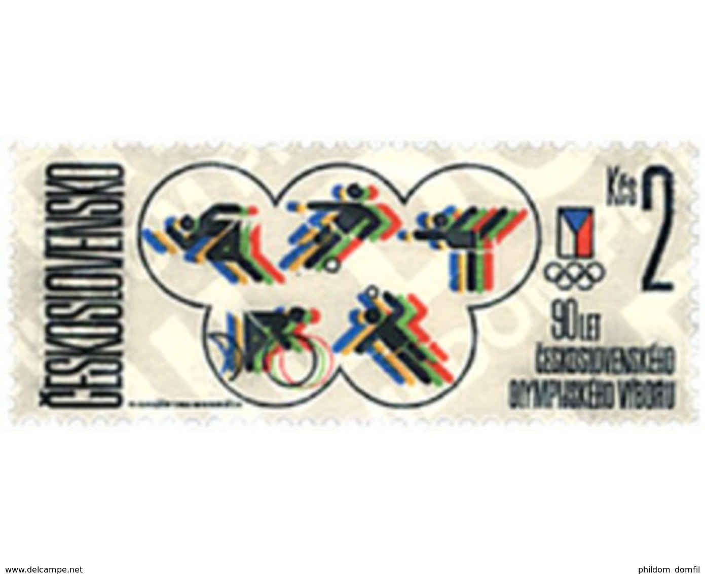 Ref. 63792 * MNH * - CZECHOSLOVAKIA. 1986. 90th ANNIVERSARY OF NATIONAL OLYMPIC COMMITTEE . 90 ANIVERSARIO DEL COMITE OL - Handball