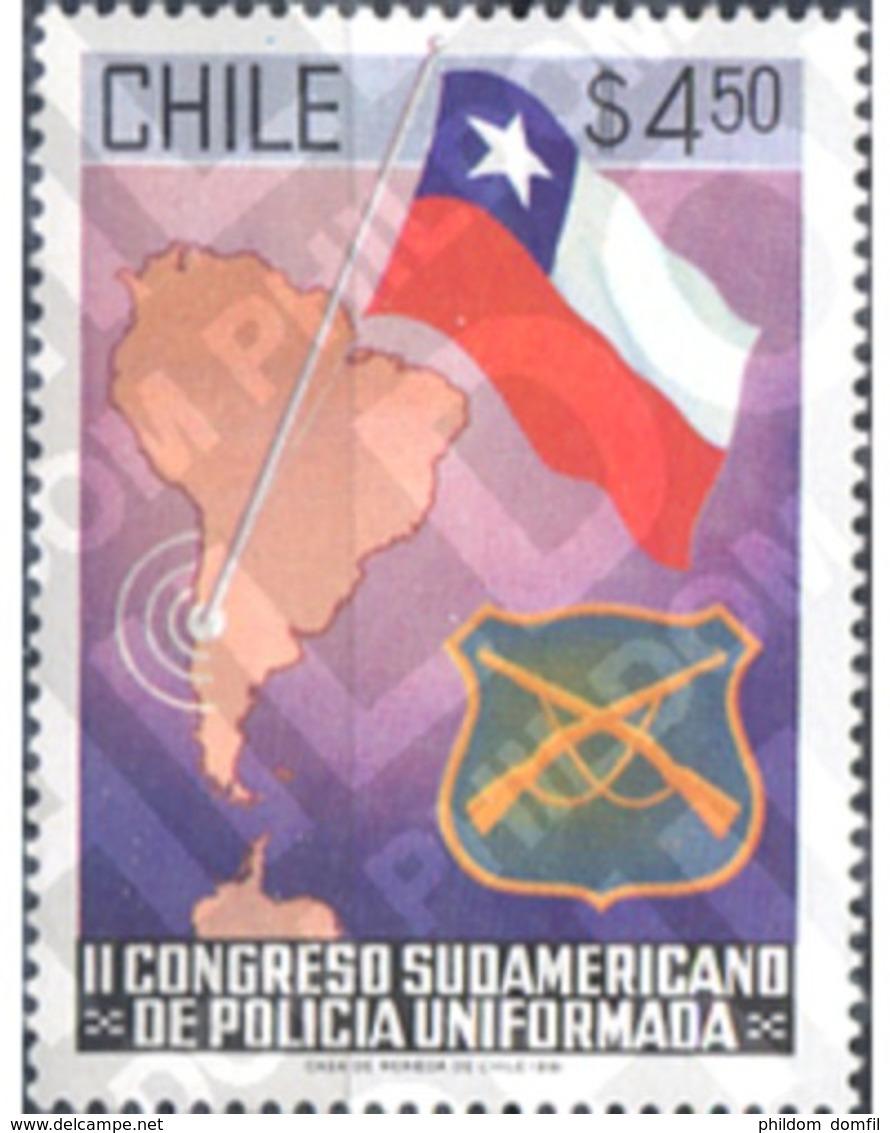 Ref. 303339 * MNH * - CHILE. 1981. II CONGRESO SUDAMERICANO DE POLICIA UNIFORMADA - Police - Gendarmerie
