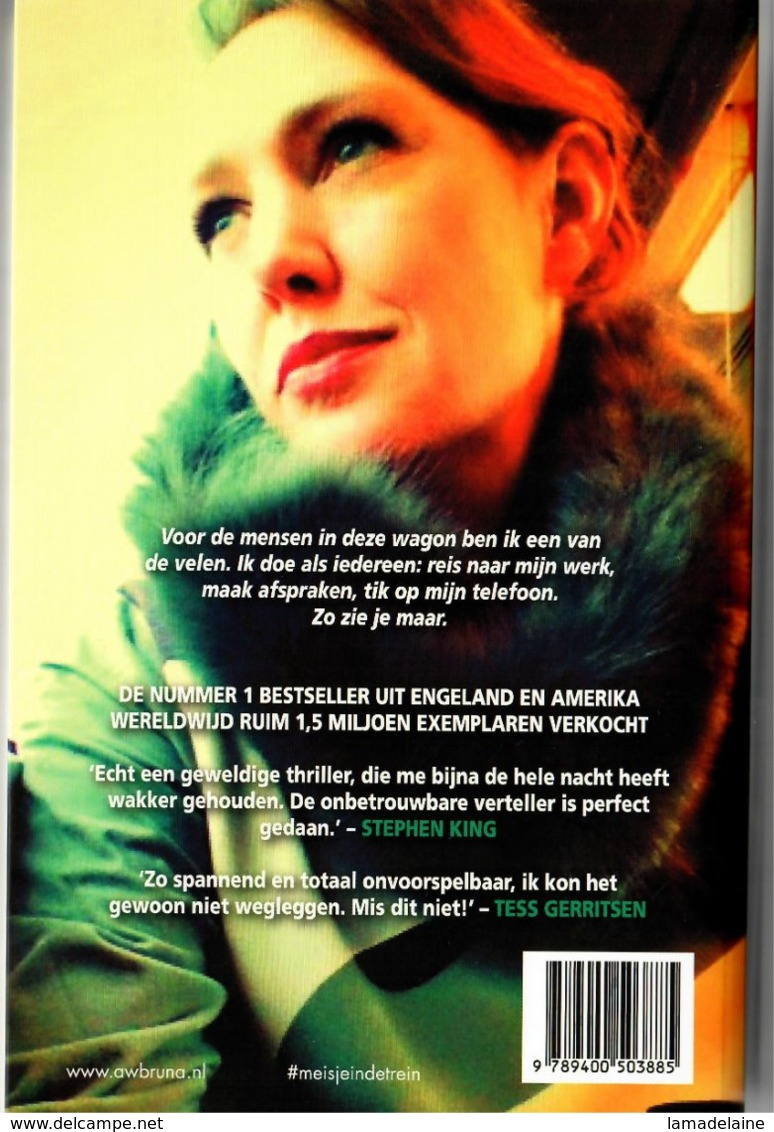 Het Meisje In De Trein (Paula Hawkins) (Bruna 2015) - Horror En Thrillers