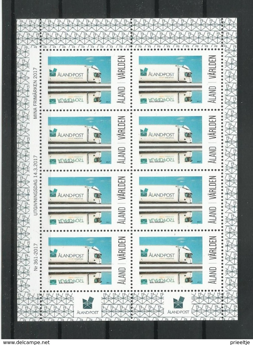 Aland 2017 Postal Lorry Sheet  ** - Aland