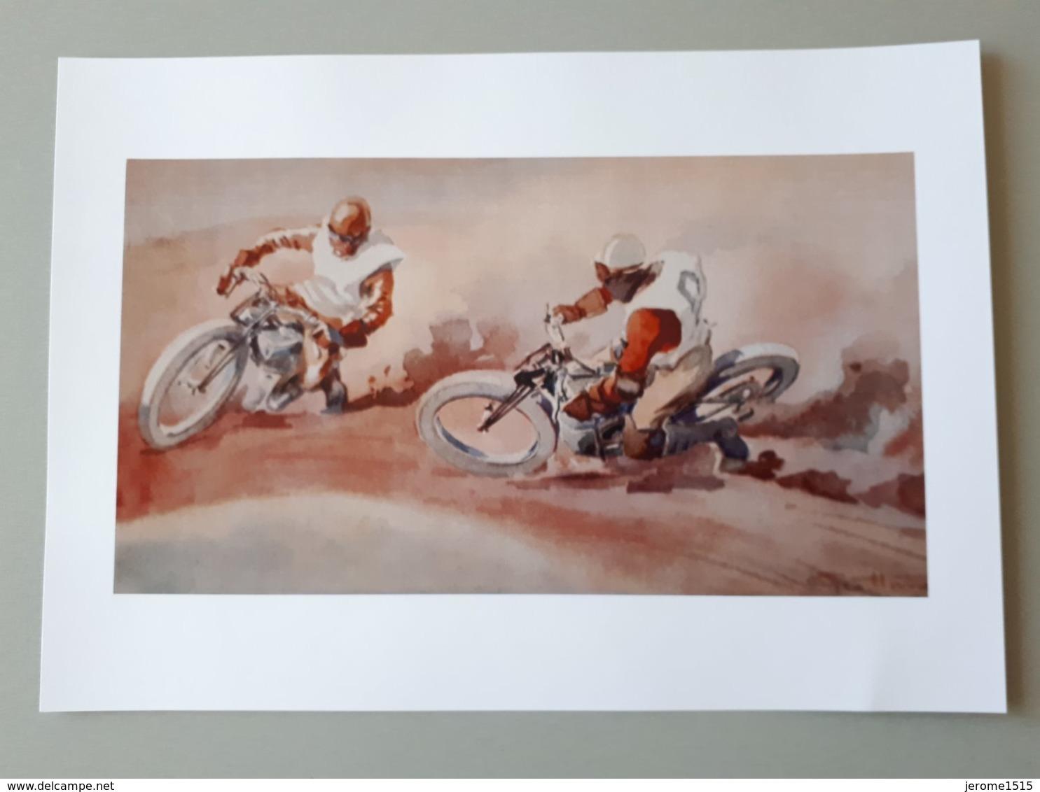 Affiche : Grand Prix De Course De Motos Anciennes - Motor Bikes