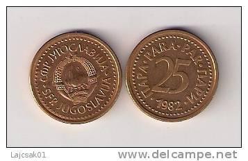 Yugoslavia 25 Para 1982. High Grade  KM#84 - Joegoslavië