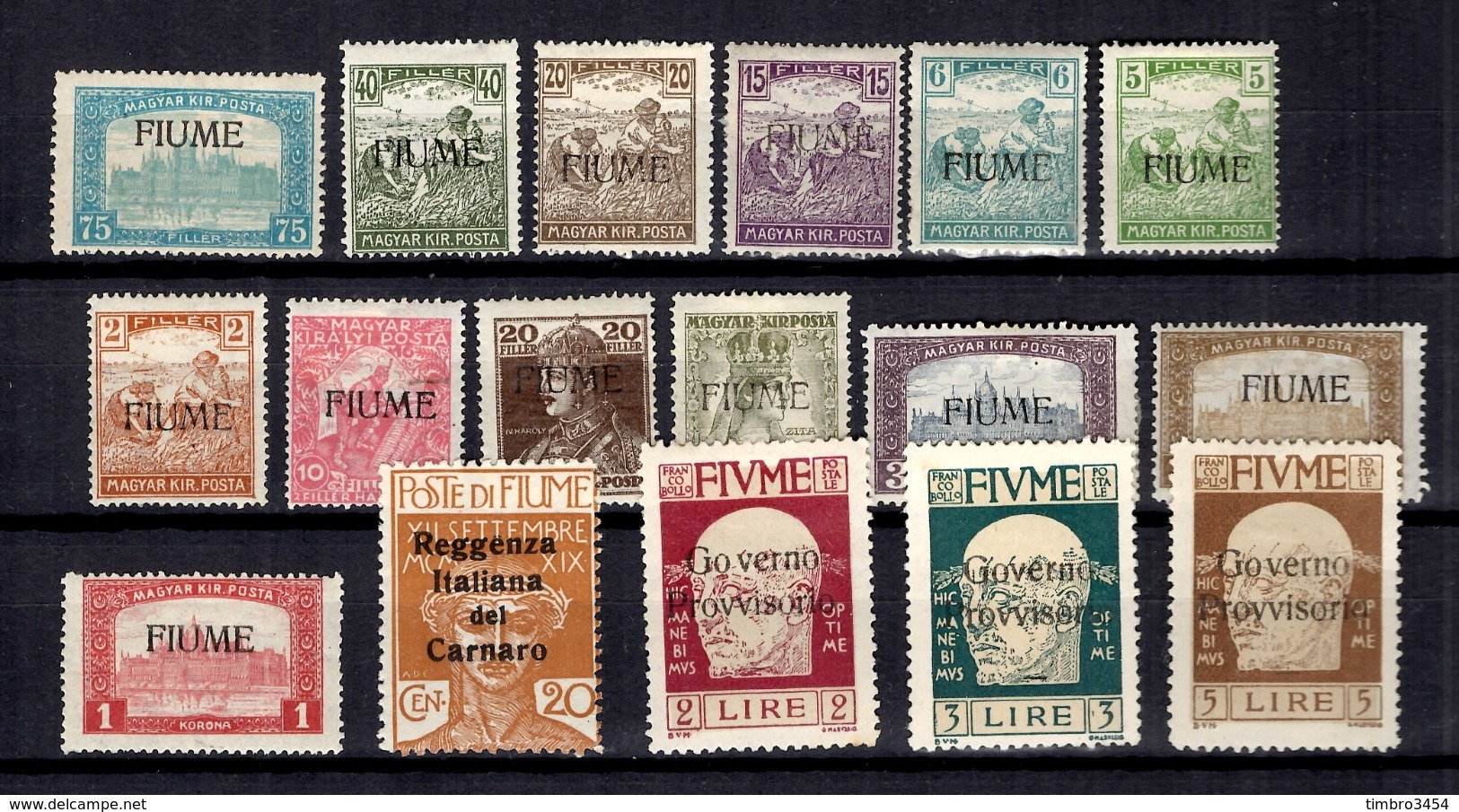 Fiume Petite Collection 1919/1921. Bonnes Valeurs. B/TB. A Saisir! - 8. Besetzung 1. WK