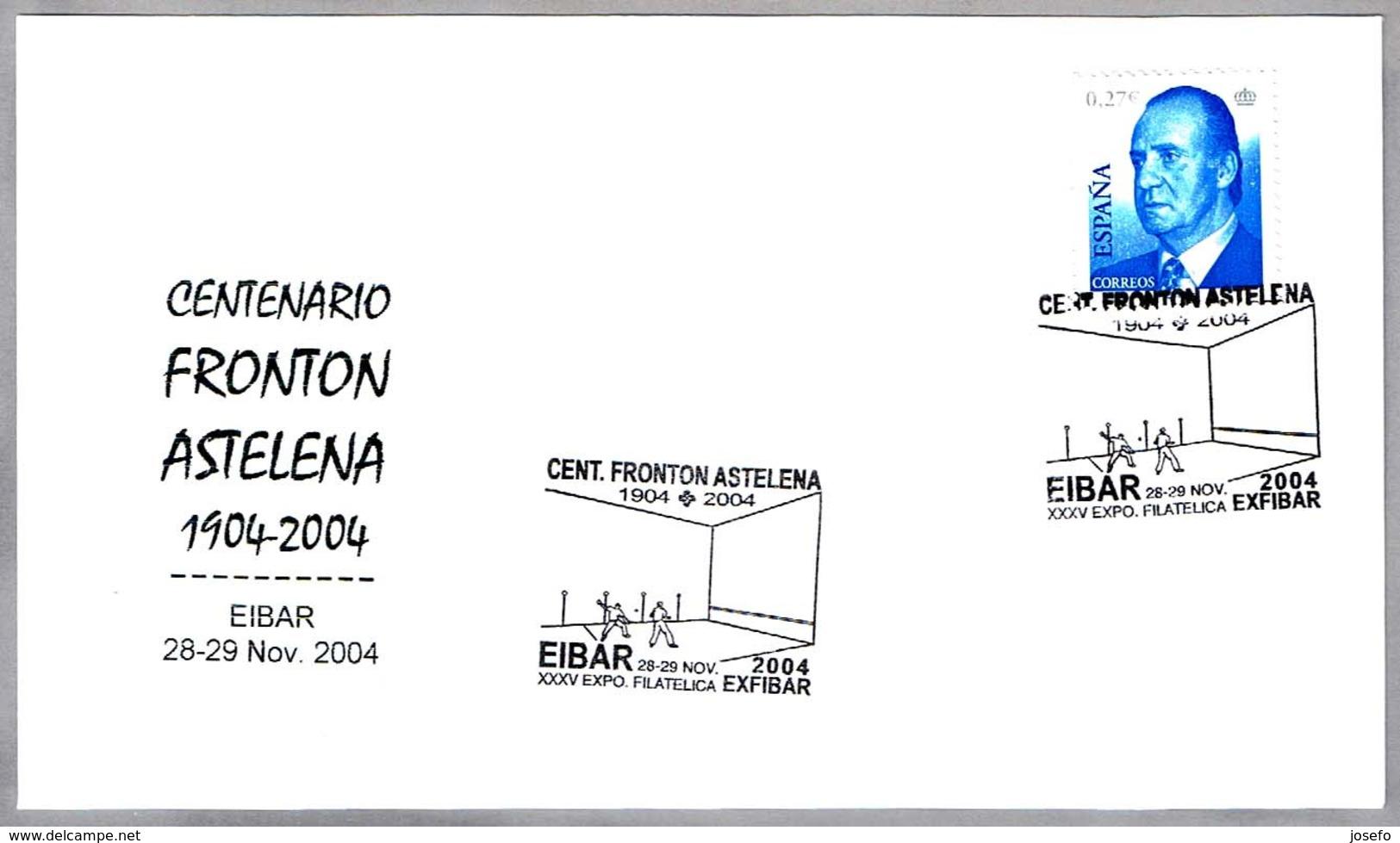 Centenario FRONTON ASTELENA - PELOTA VASCA. Eibar, Guipuzcoa, 2004 - Sellos