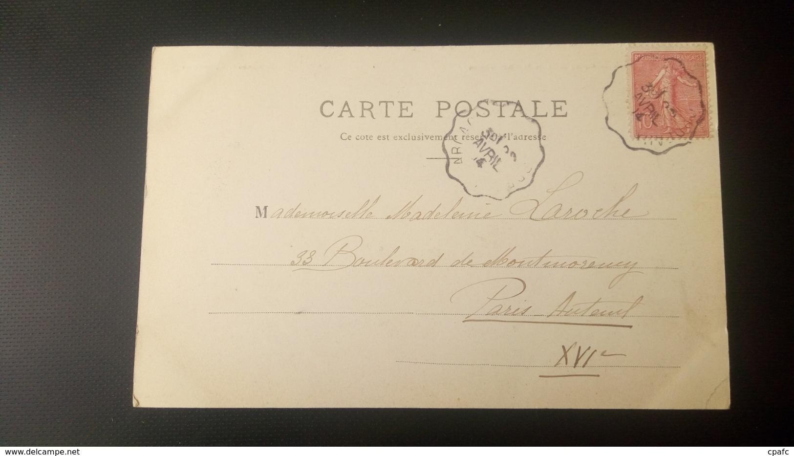 Arcachon - Grand Café De La Place Thiers / Carte Précurseur Voyagée En 1904 / Edition J.G. N°II (ou 11) - Arcachon