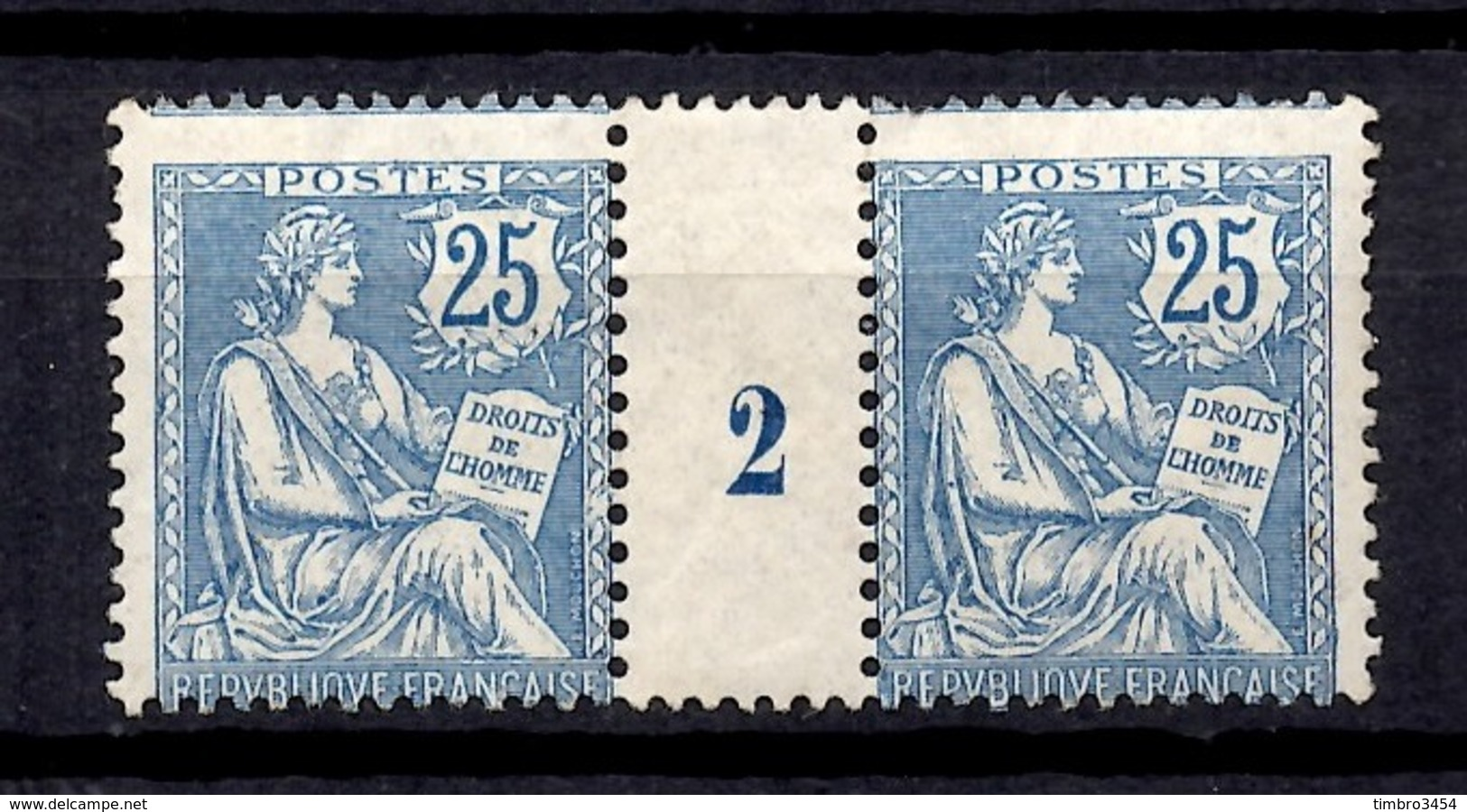 France Mouchon Maury N° 127 Millésime 1902 Neufs *. Gomme D'origine. B/TB. A Saisir! - Millésime