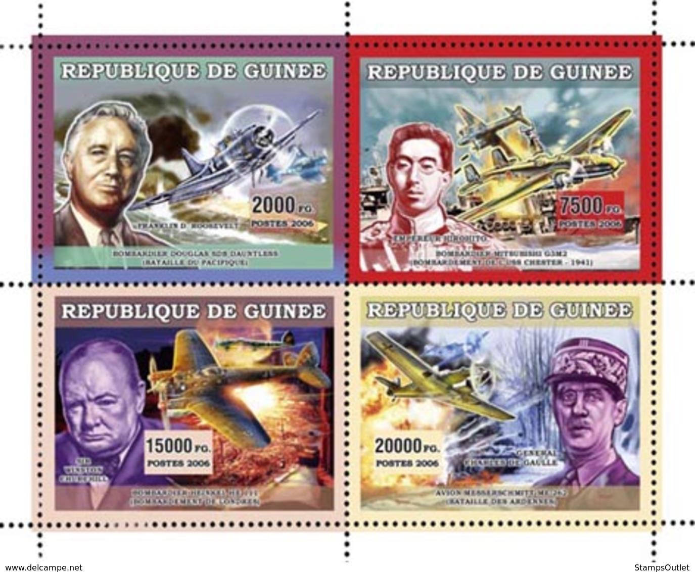 Guinea 2006 MNH - Avions Militaires - YT 2815-2818, Mi 4489-4492 - Guinea (1958-...)
