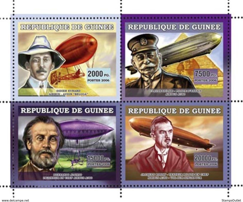 Guinea 2006 MNH - Dirigeables - YT 2831-2834, Mi 4481-4484 - Guinea (1958-...)