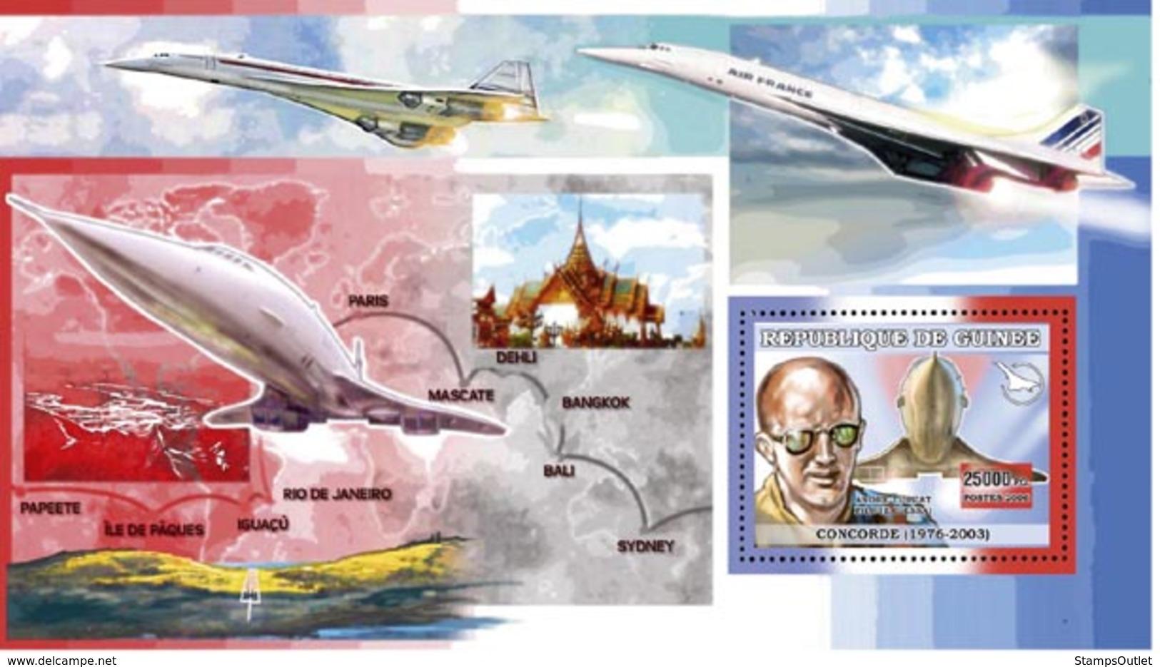 Guinea 2006 MNH - Concorde - Andre Turcat Pilot D'Essai - YT 449, Mi 4519/BL1105 - Guinea (1958-...)