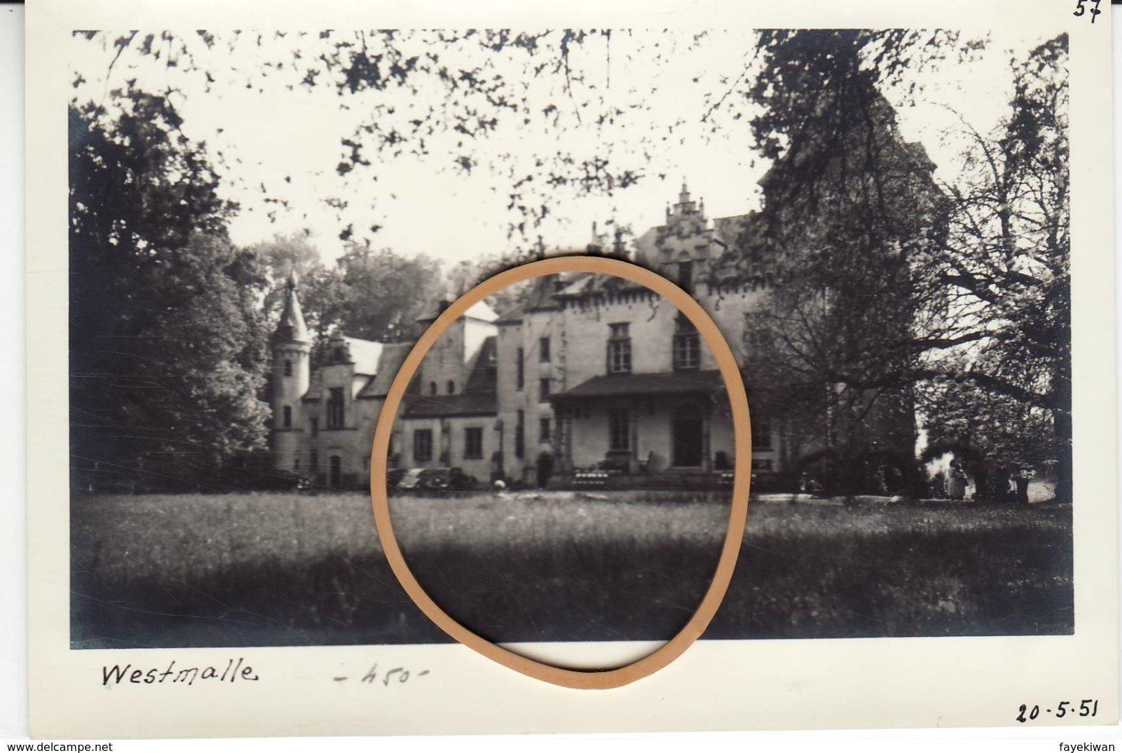 """!! Westmalle """" Zicht Op Het Kasteel - Foto Formaat Postkaart - 2 - - Malle"""