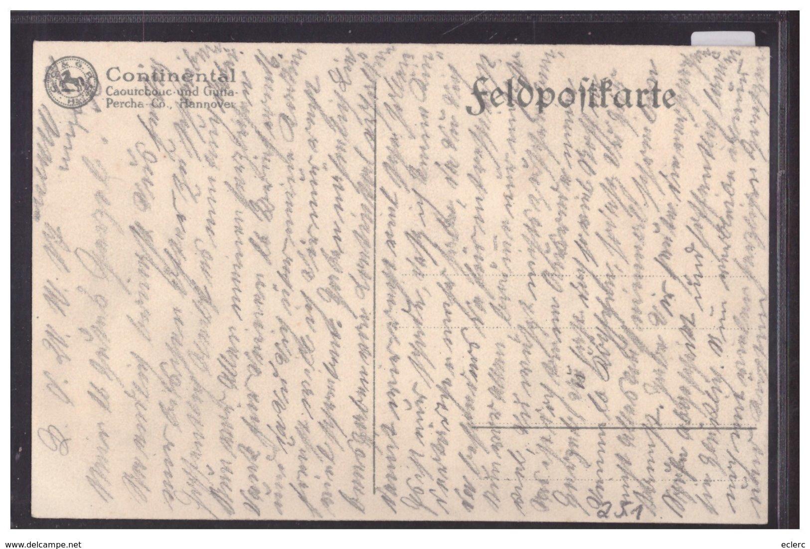 PUBLICITE CONTINENTAL - POST ORDONNANZ - CAOUTCHOUC Cie STOCKHOLM - TB - Advertising