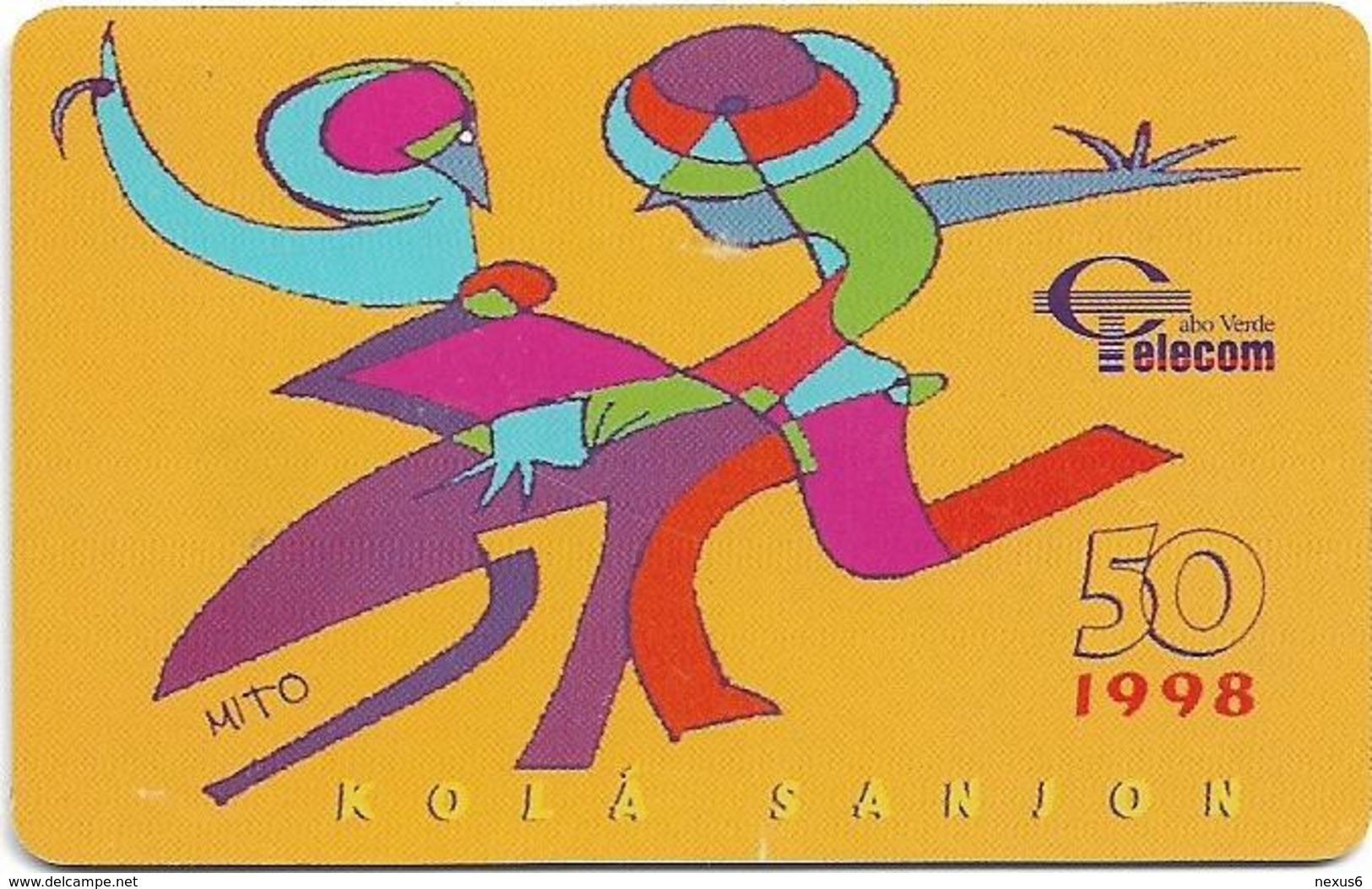 Cabo Verde - Cabo Verde Telecom - Kolá Sanjon, 50U, 1998, Used - Cap Vert