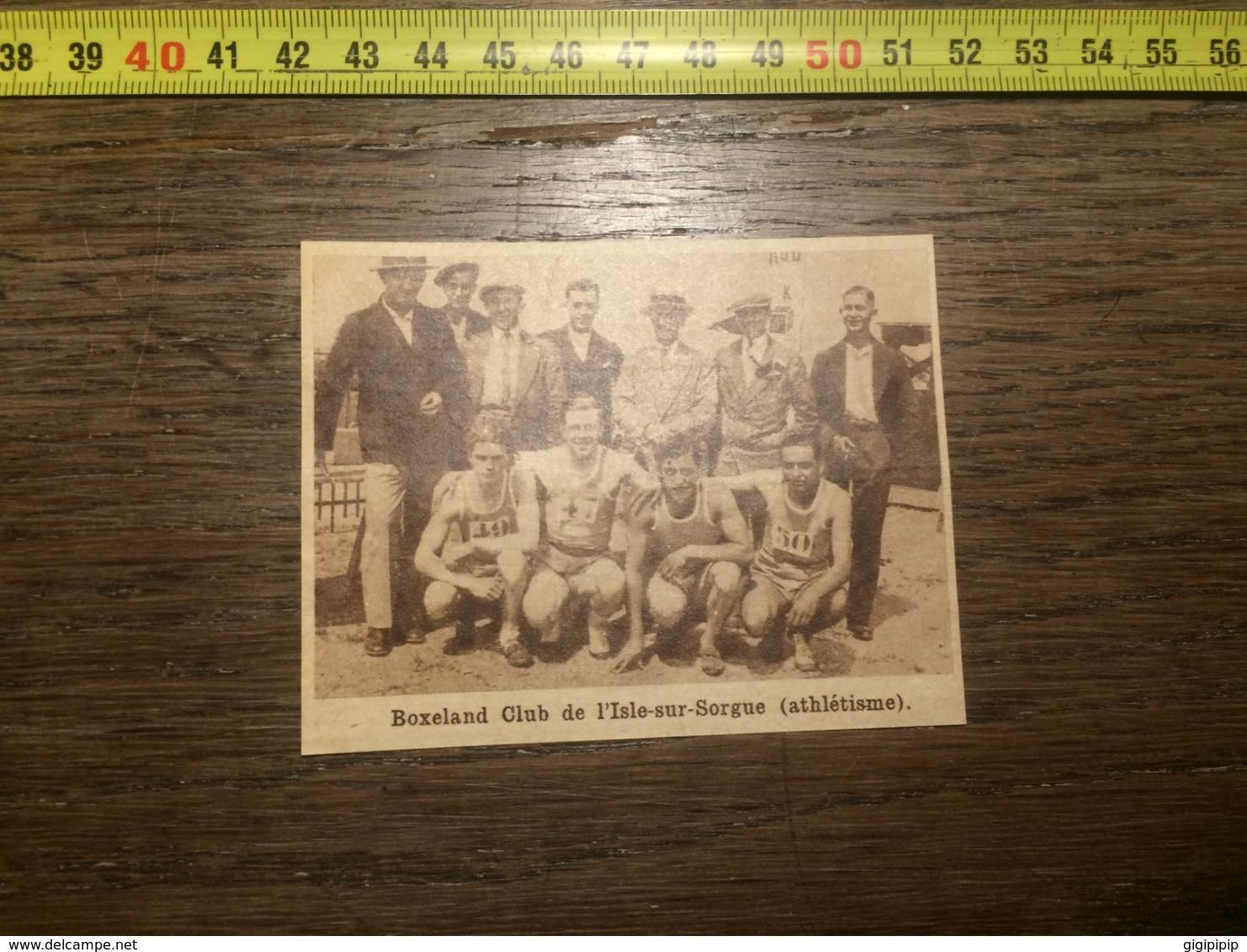 1932 1933 M EQUIPE DE ATHLETISME BOXELAND CLUB L ISLE SUR SORGUE - Collections