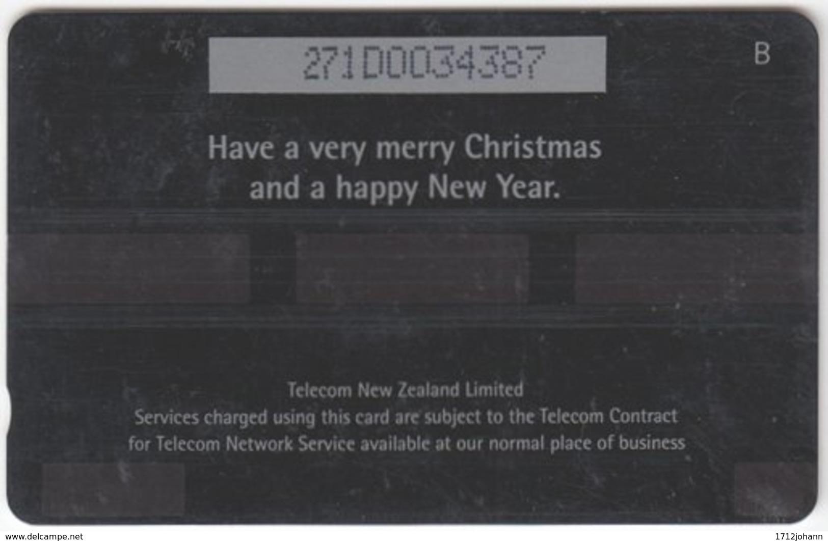 NEW ZEALAND A-835 Magnetic Telecom - Occasion, Christmas - 271DO - Used - Nuova Zelanda