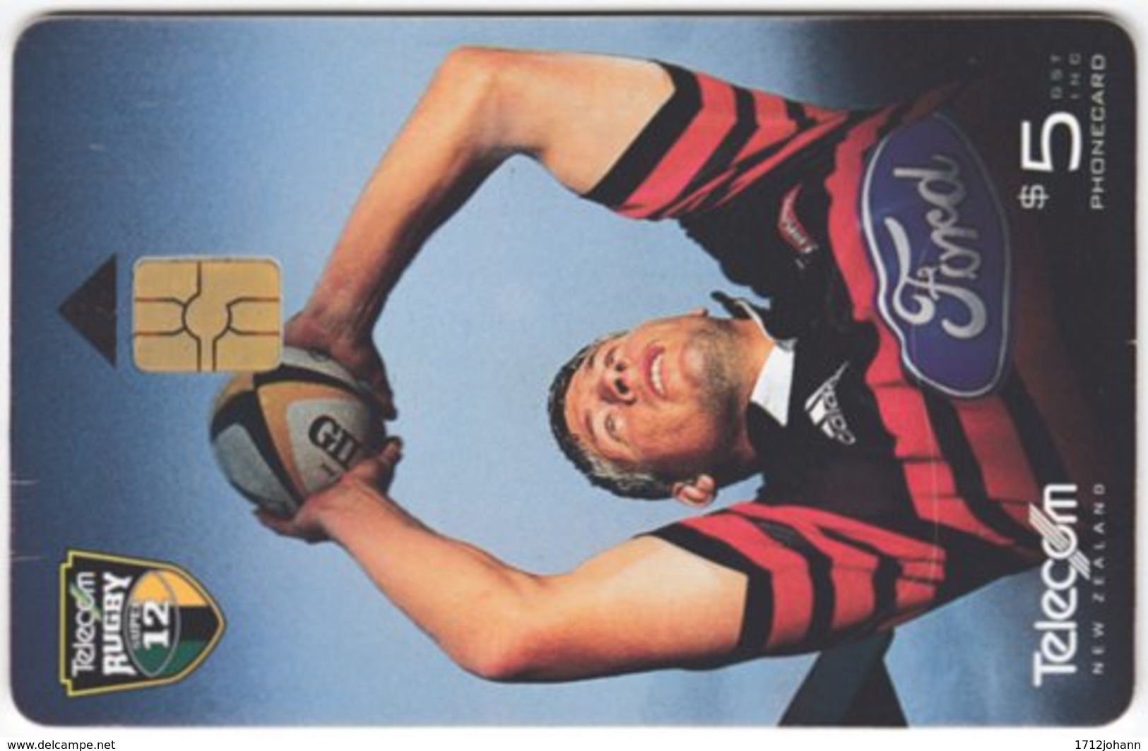 NEW ZEALAND A-904 Chip Telecom - Sport, Rugby - Used - Nuova Zelanda