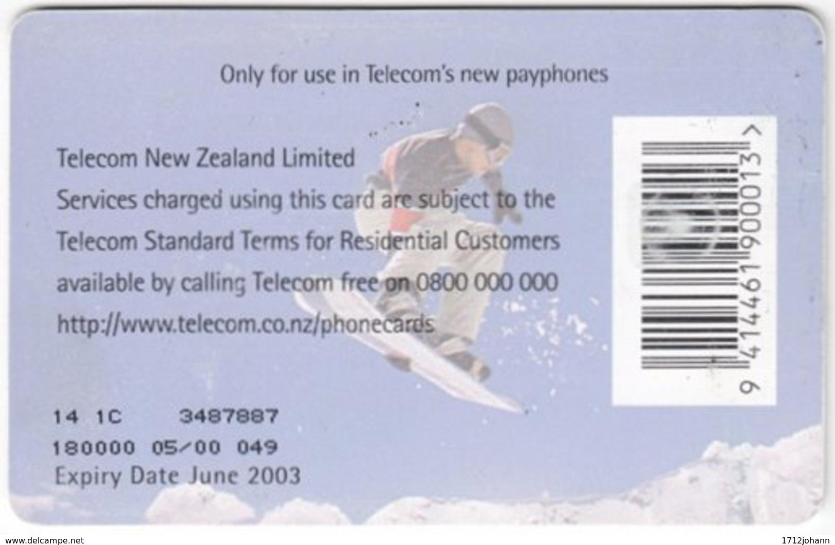 NEW ZEALAND A-913 Chip Telecom - Leisure, Snowboarding - Used - Nuova Zelanda