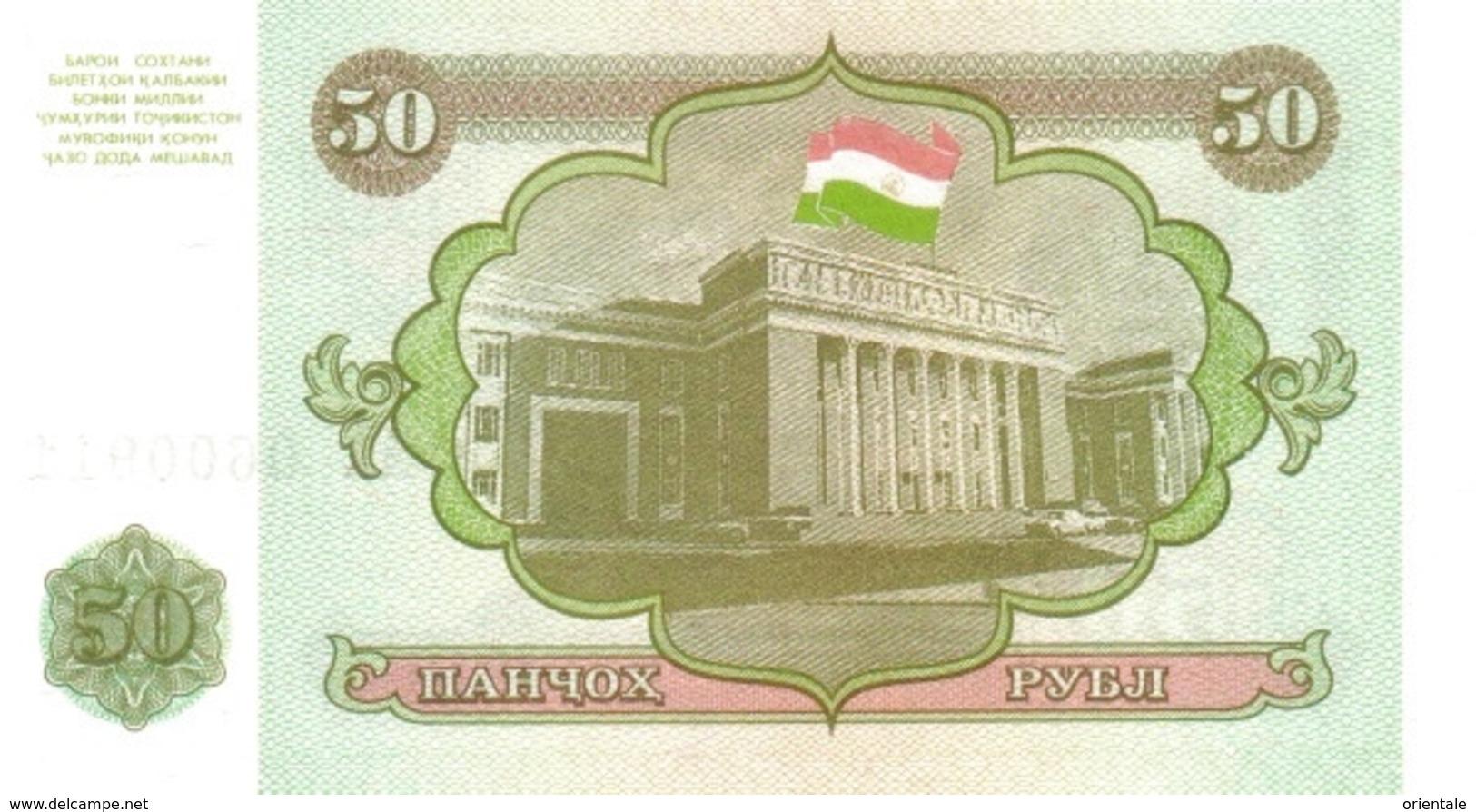 TAJIKISTAN P.  5a 50 R 1994 UNC - Tadzjikistan