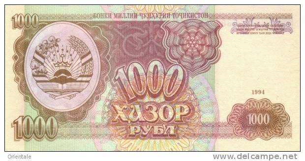 TAJIKISTAN P.  9a 1000 R 1994 AUNC - Tadschikistan