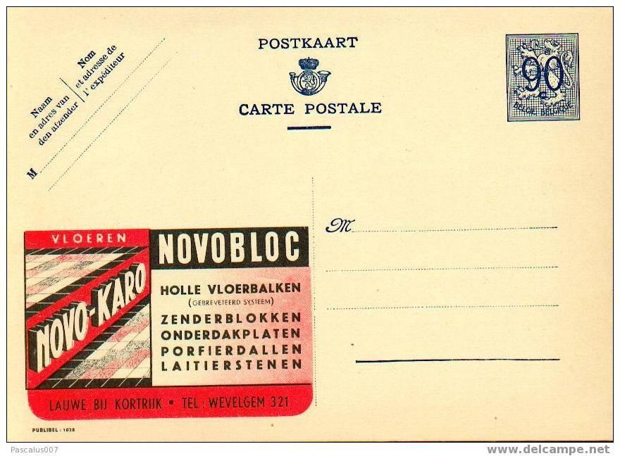 21028 - Entier Postal - Carte Publibel N° 1028 - Novobloc à Courtrai - Voir Photo Pour Détails - Stamped Stationery