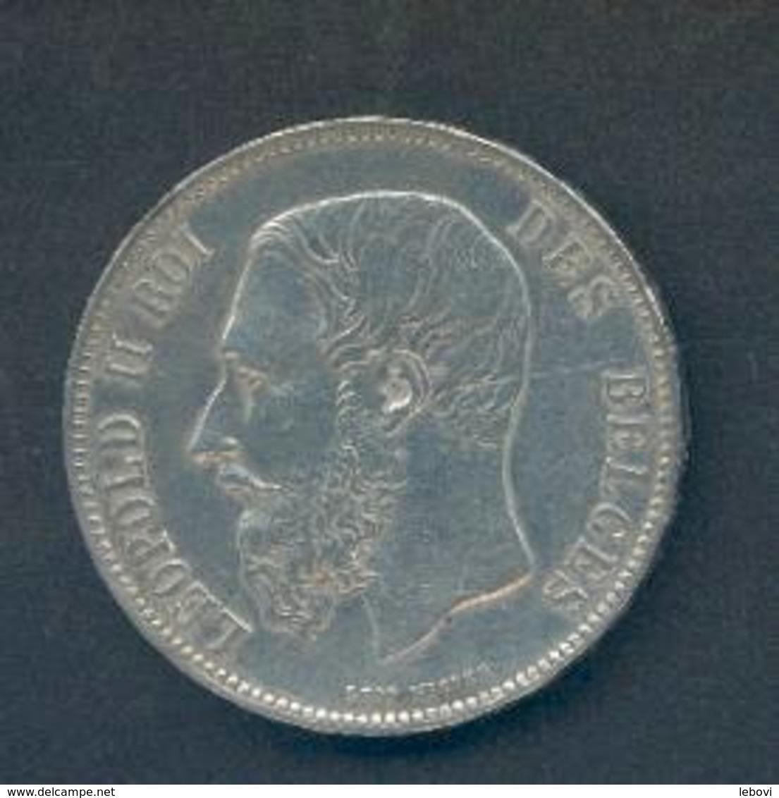LEOPOLD II - 5 Francs 1873 « PROTEGE » Plus Espacé - 09. 5 Franchi