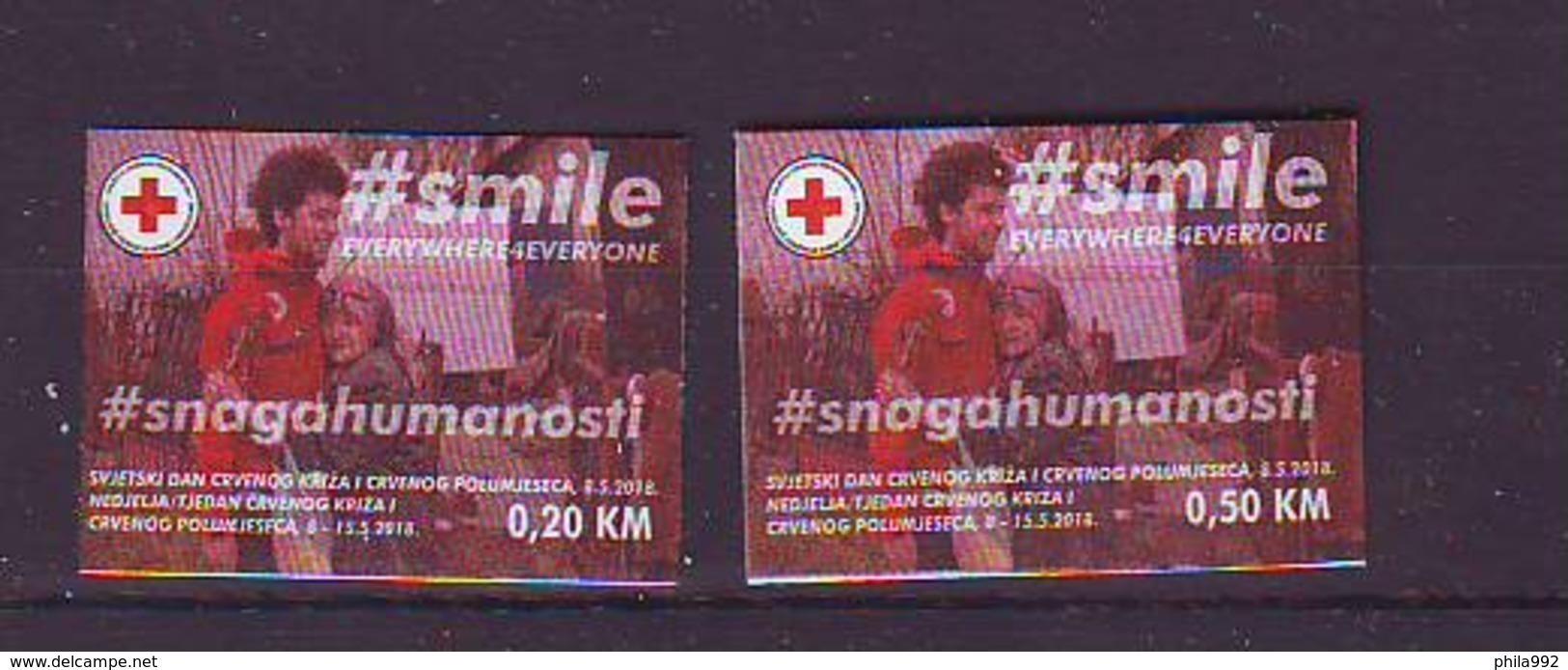 BiH Bosnia 2018 Y Red Cross Charity Stamps  MNH - Bosnie-Herzegovine