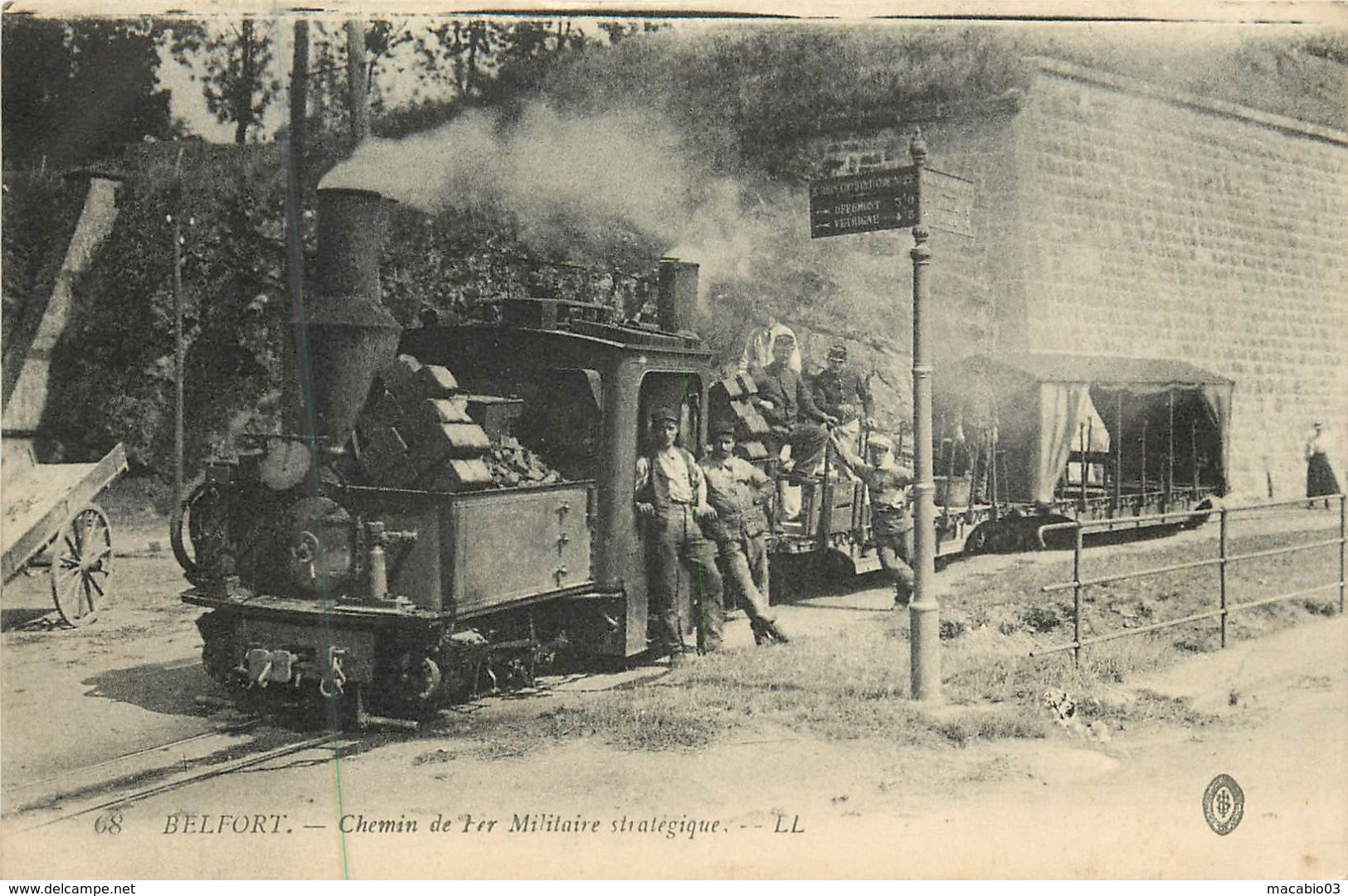 90 Territoire De Belfort : Belfort - Chemin De Fer Militaire Strtégique  Réf 7309 - Belfort - Ville