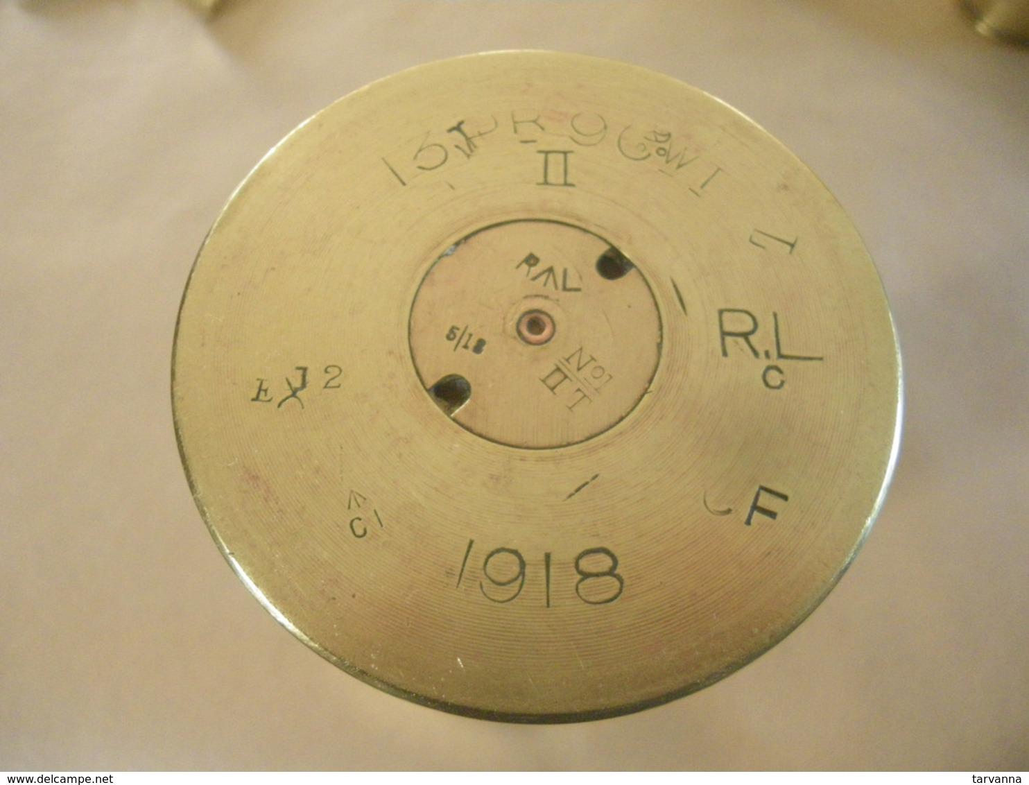 Douille Obus Britannique Ou Anglais 13 PR 9 CWT  1918 - Equipo