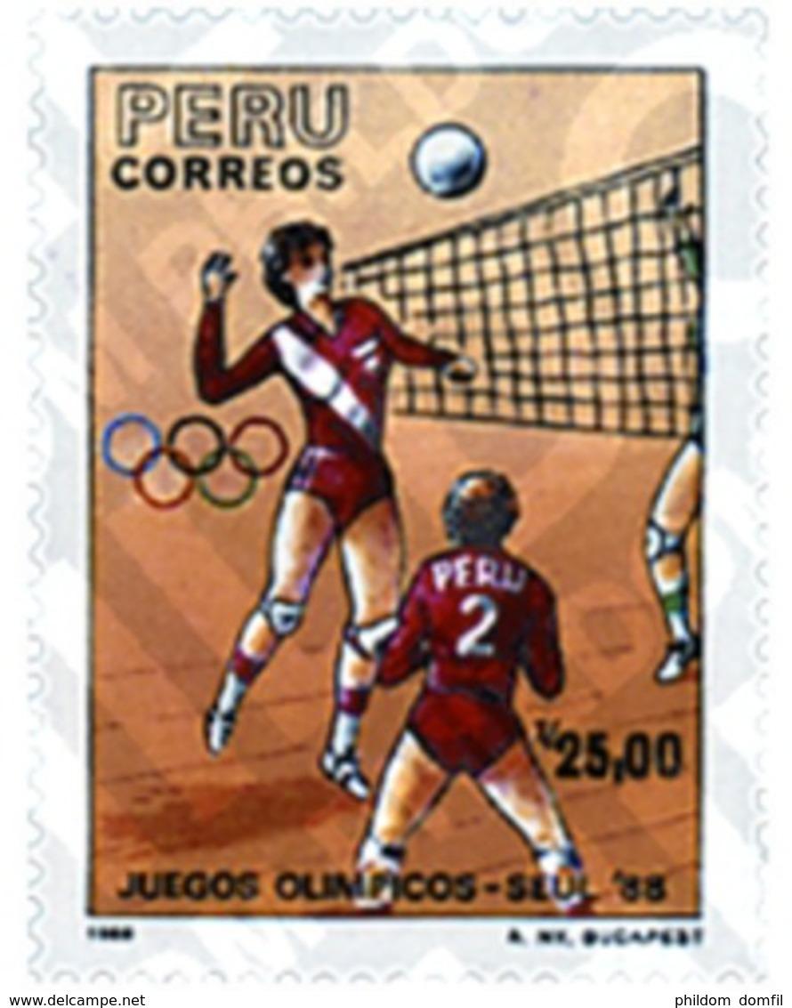 Ref. 27086 * MNH * - PERU. 1988. GAMES OF THE XXIV OLYMPIAD. SEOUL 1988 . 24 JUEGOS OLIMPICOS VERANO  SEUL 1988 - Perù