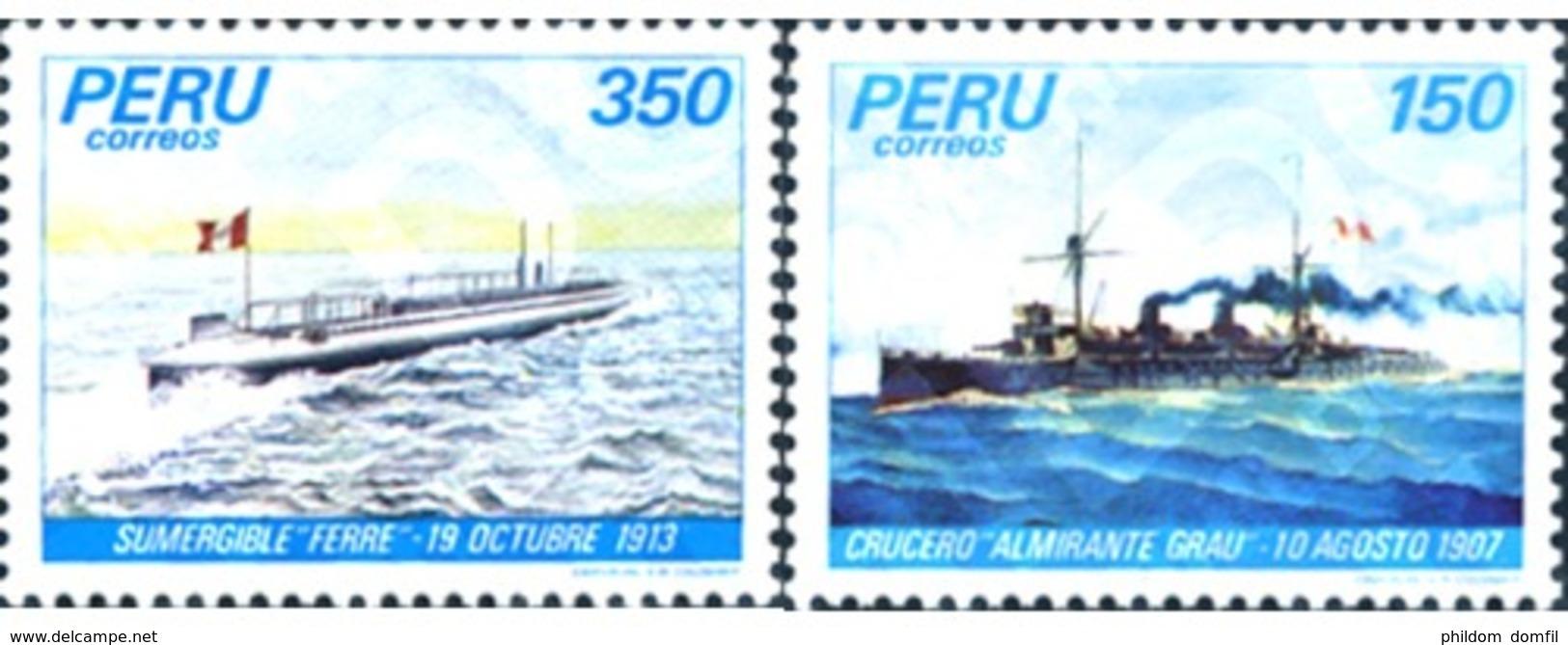 Ref. 245605 * MNH * - PERU. 1983. NATIONAL NAVY . MARINA NACIONAL - Sous-marins