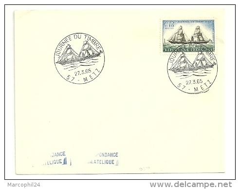 MARINE = PARIS 1965 = CACHET PREMIER JOUR Illustré D'un VOILIER 'Journée Du Timbre' N° Yvt 1446 - FDC