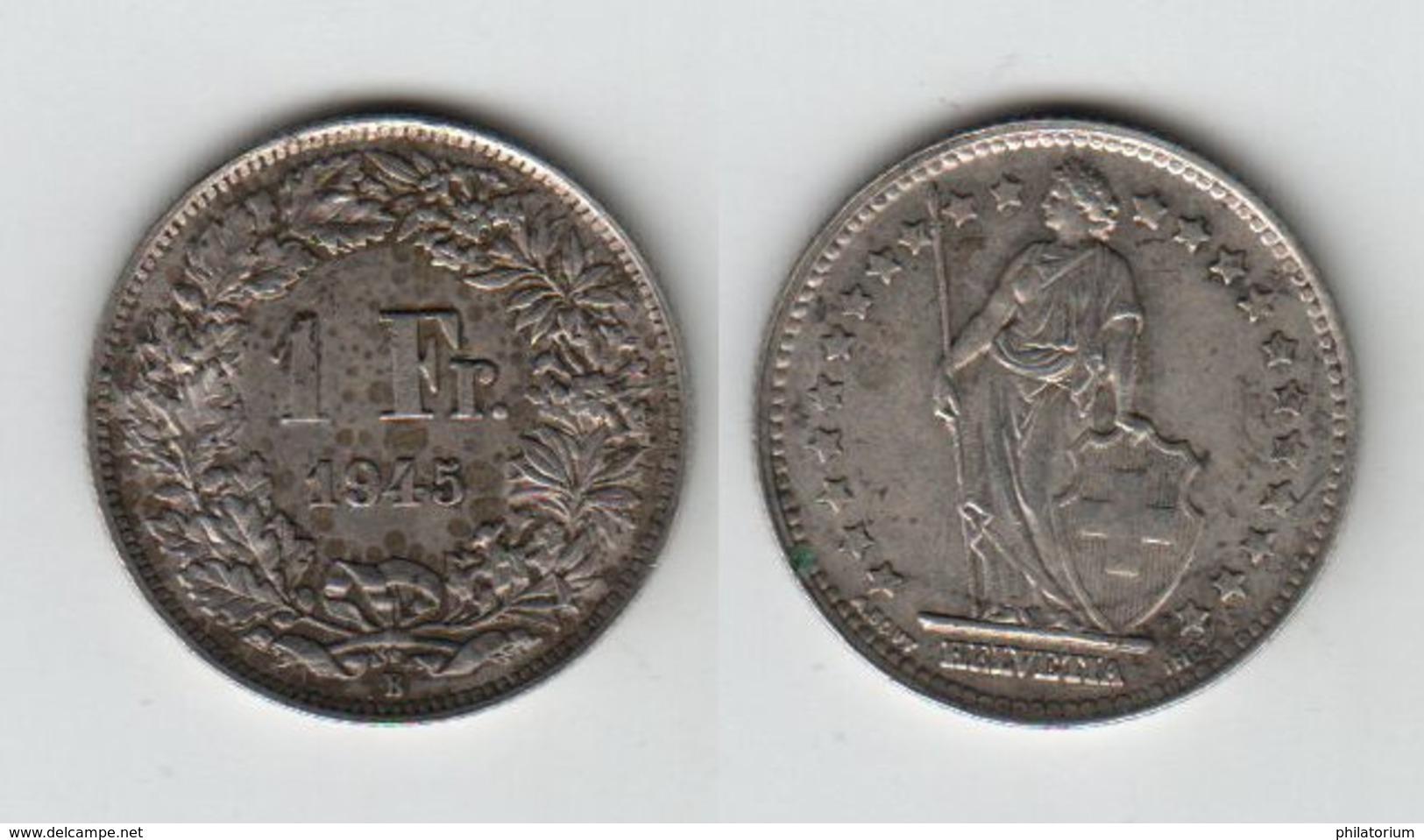 SUISSE 1 Franc 1945  1Fr - Schweiz