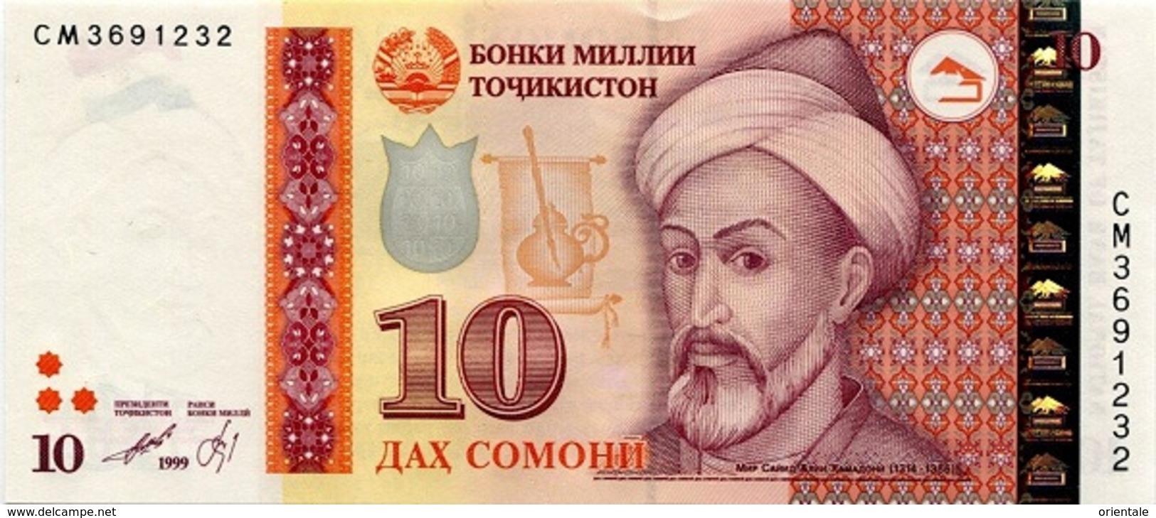 TAJIKISTAN P. 24a 10 S 1999 UNC - Tadzjikistan