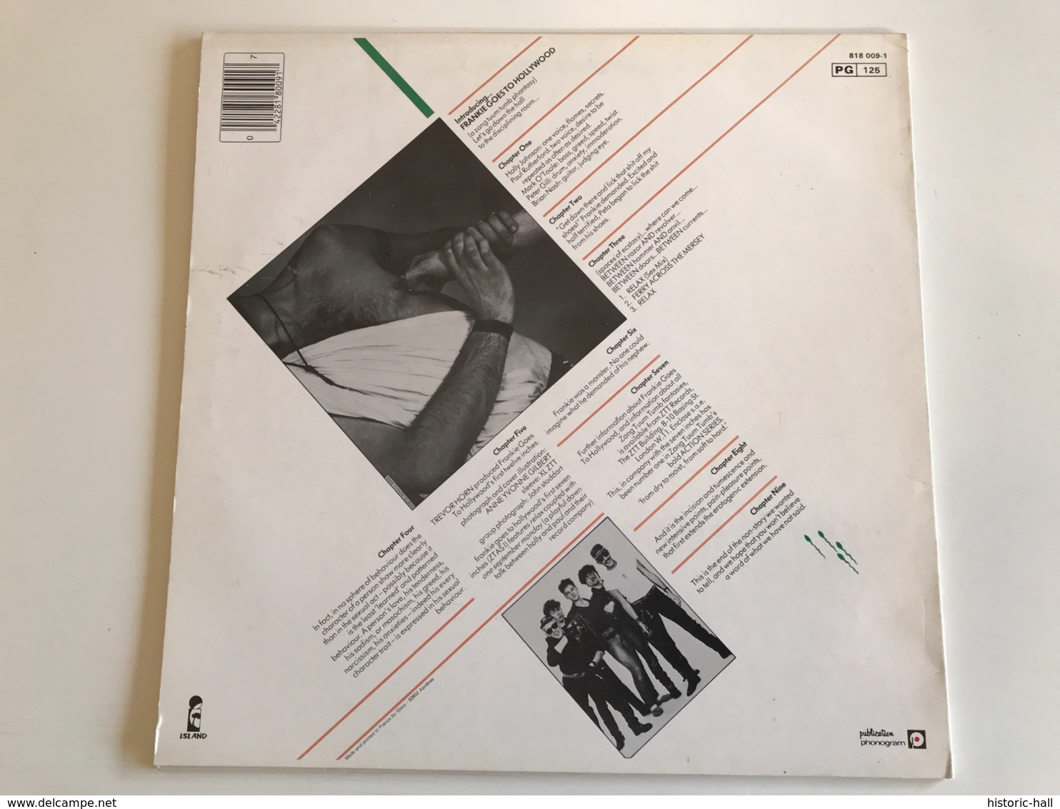 FRANKIE GOES TO HOLLYWOOD «relax» MAXI 45t French Press - Rock