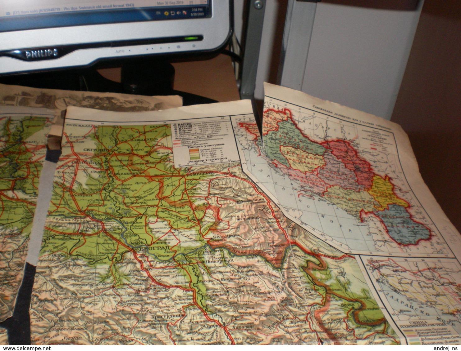Karta Kraljevine Jugoslavije Kingdom Of Yugoslavia - Cartes Géographiques