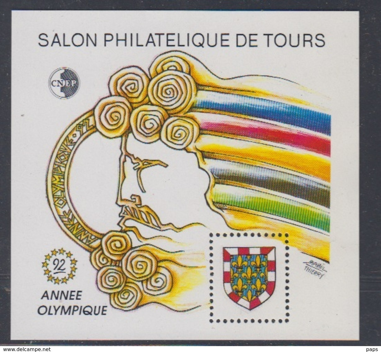 CNEP-1992-N°15** TOURS-ANNEE OLYMPIQUE - CNEP